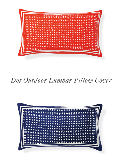 Dot Outdoor Lumbar Pillow Cover