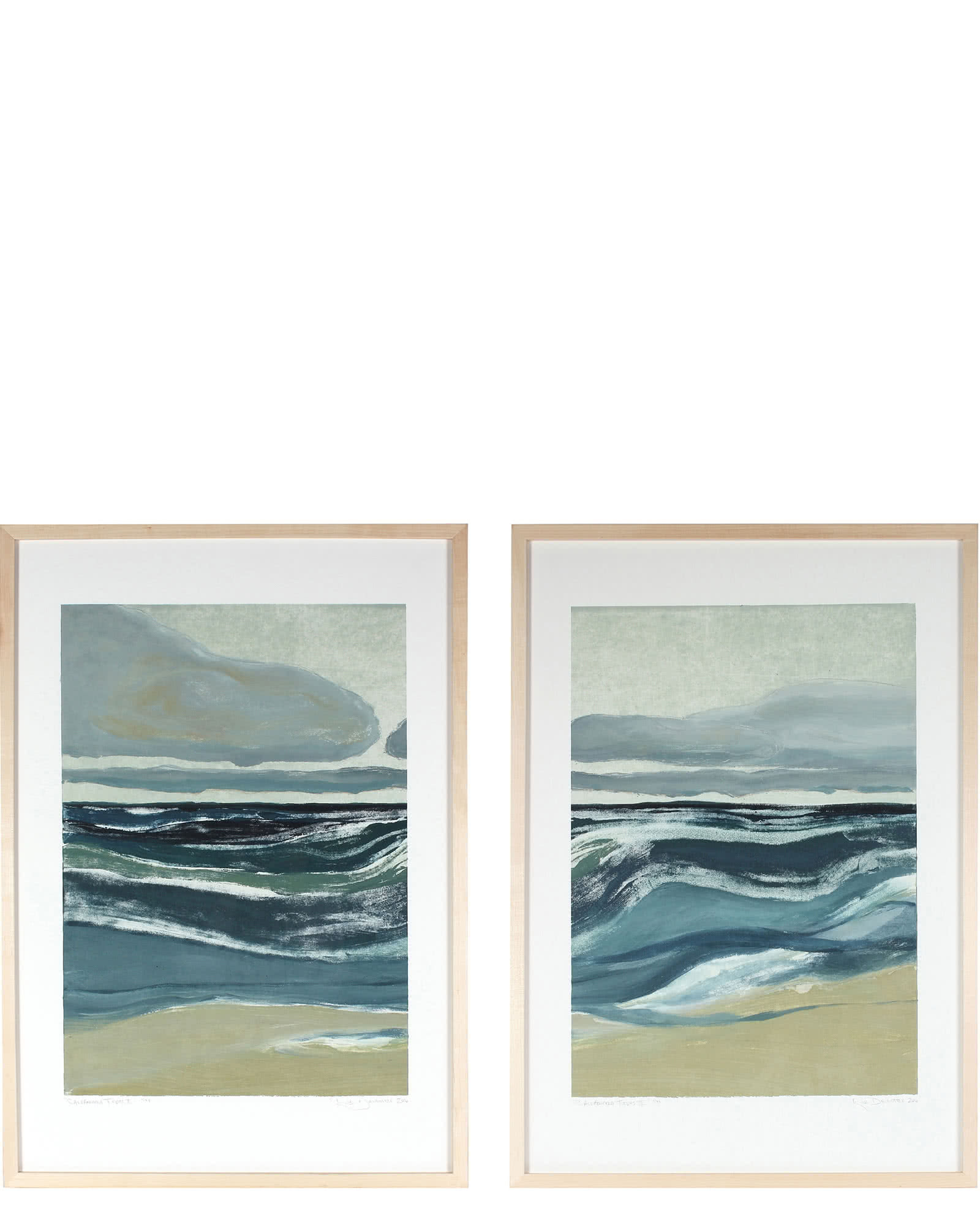 """California Tides I & II"" by Rob Delamater"
