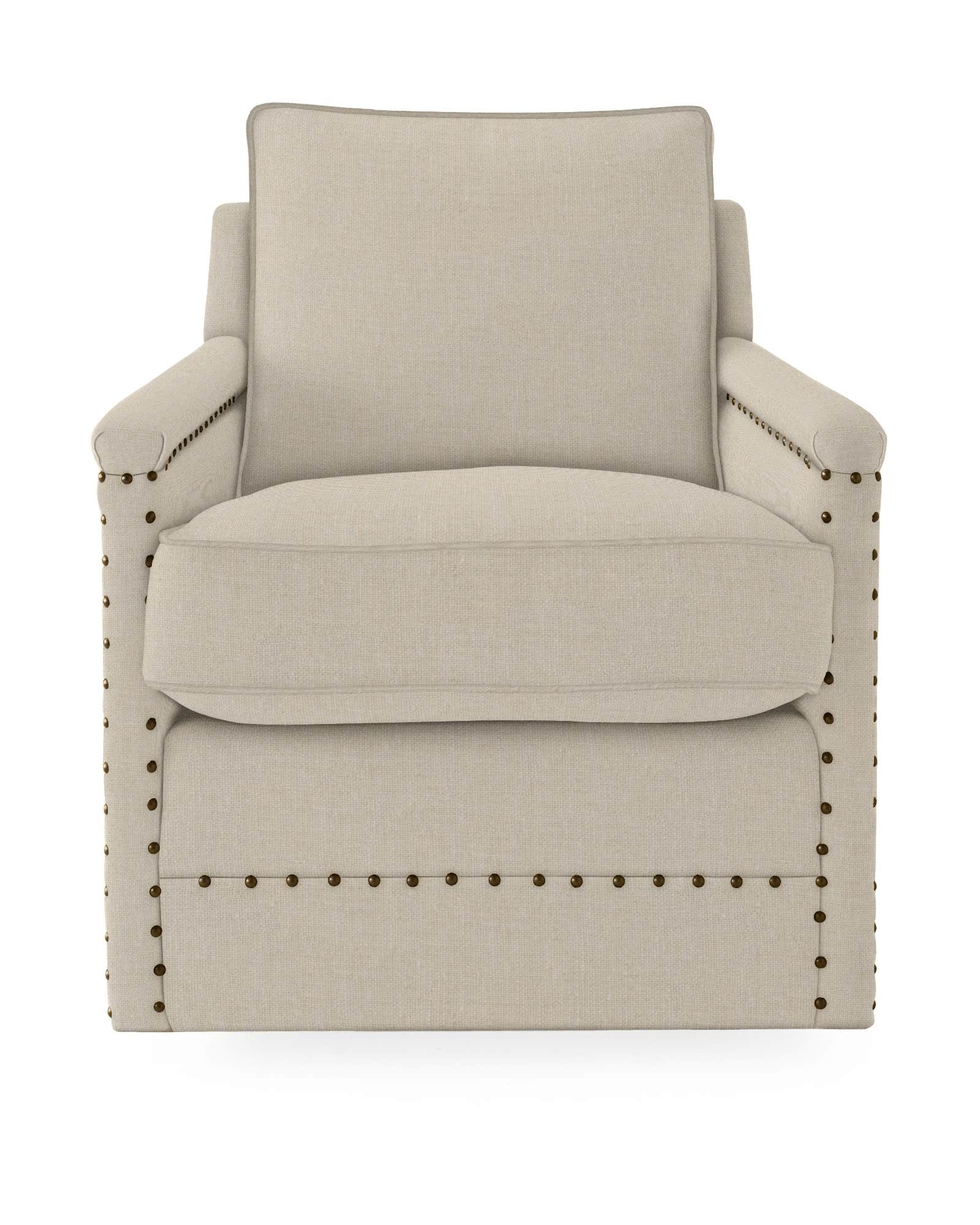 Spruce Street Swivel Chair with Nailheads