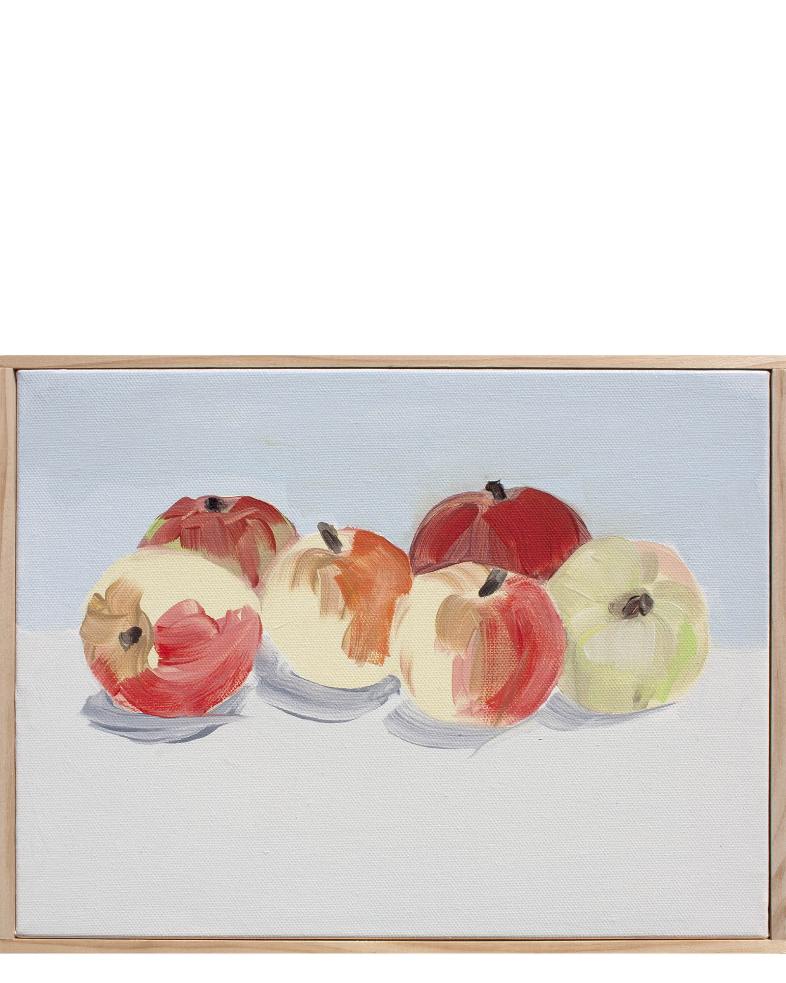 """Devoto Apples in Saint Remy Yellow, Burrgundy, and Saffron"" by Isabel Vexin"
