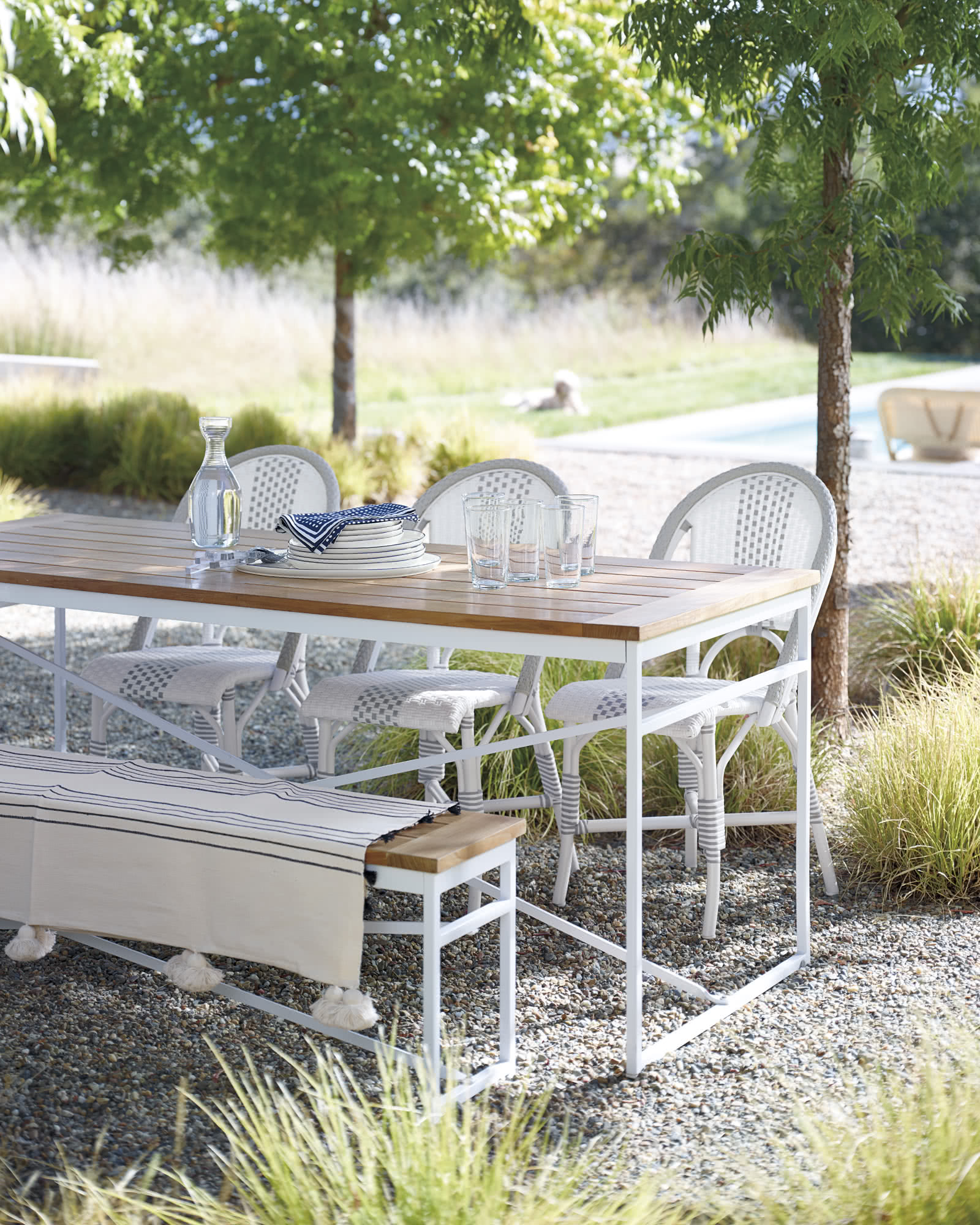 teak outdoor garden table
