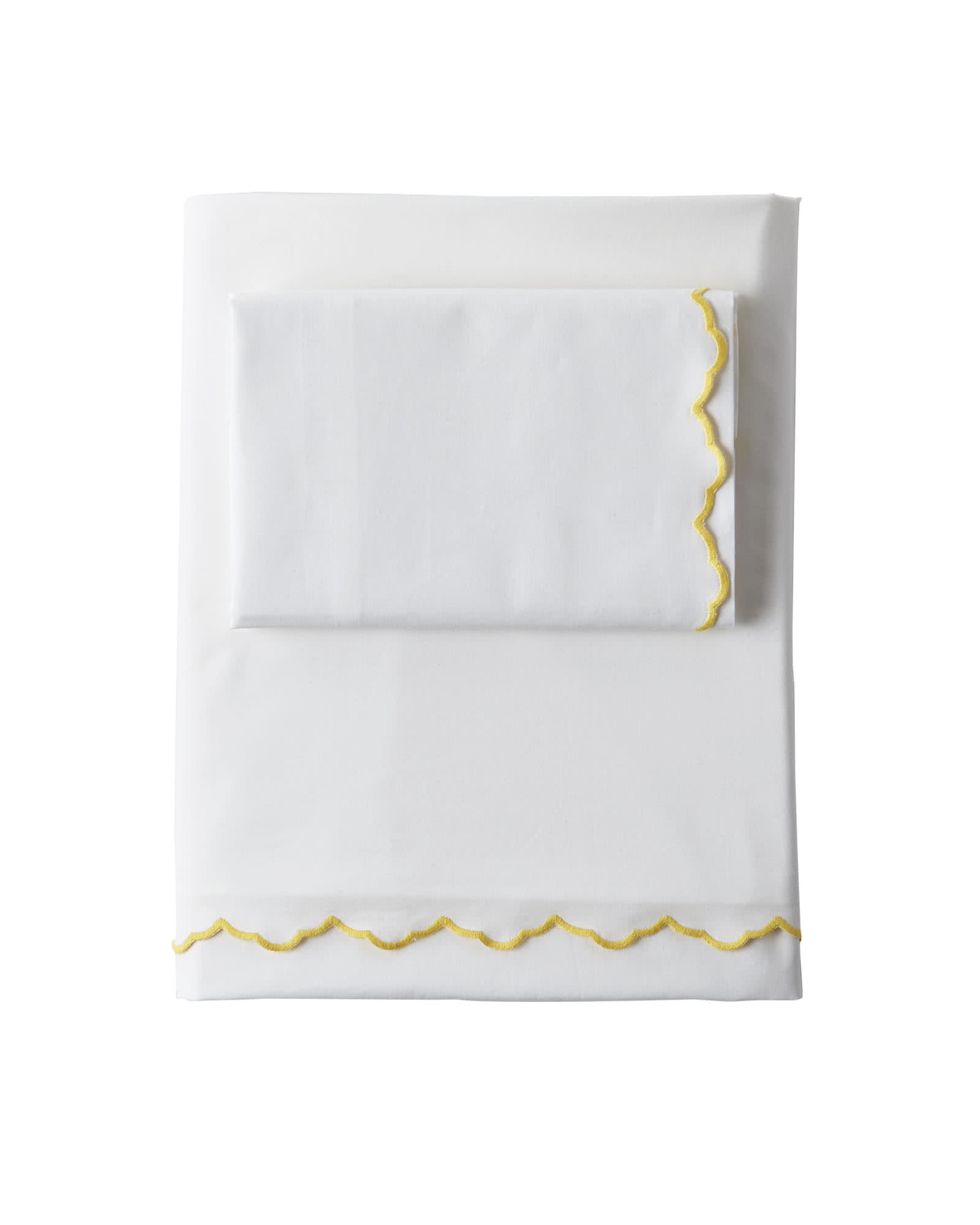 Scallop Embroidered Sheet Set - Sunshine