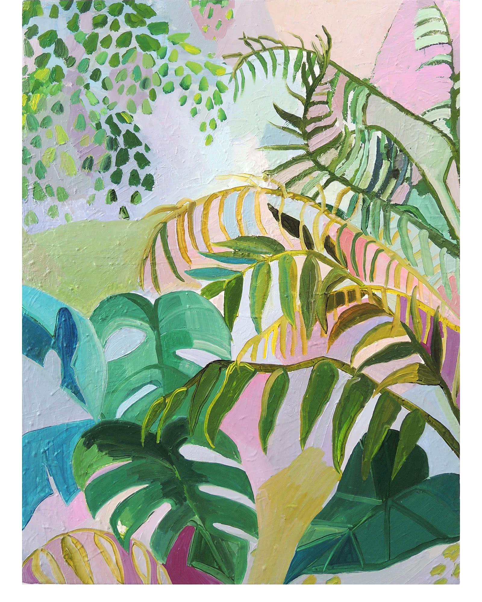Leaves and Ferns by Claire Elliott