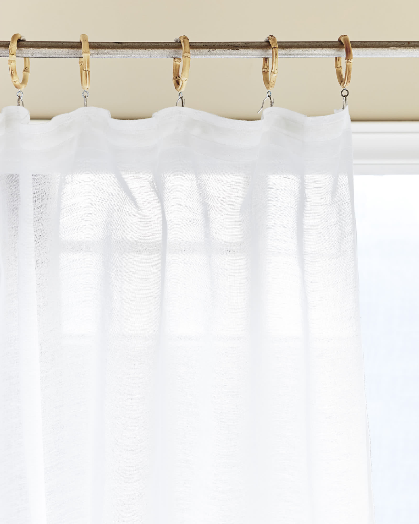 Color Stitch Sheer Window Panel