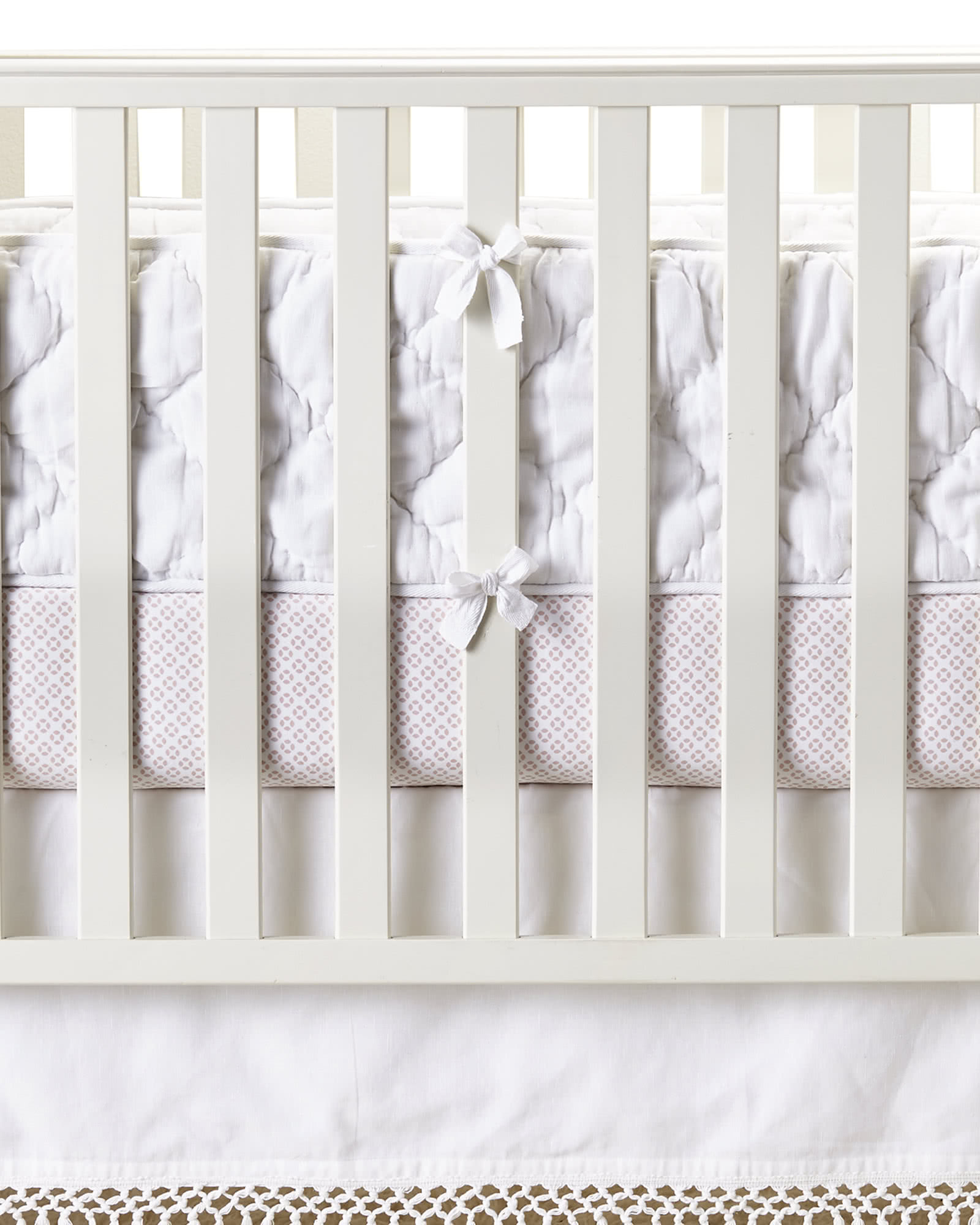 Diamond Quilted Crib Bumper Crib Bumpers