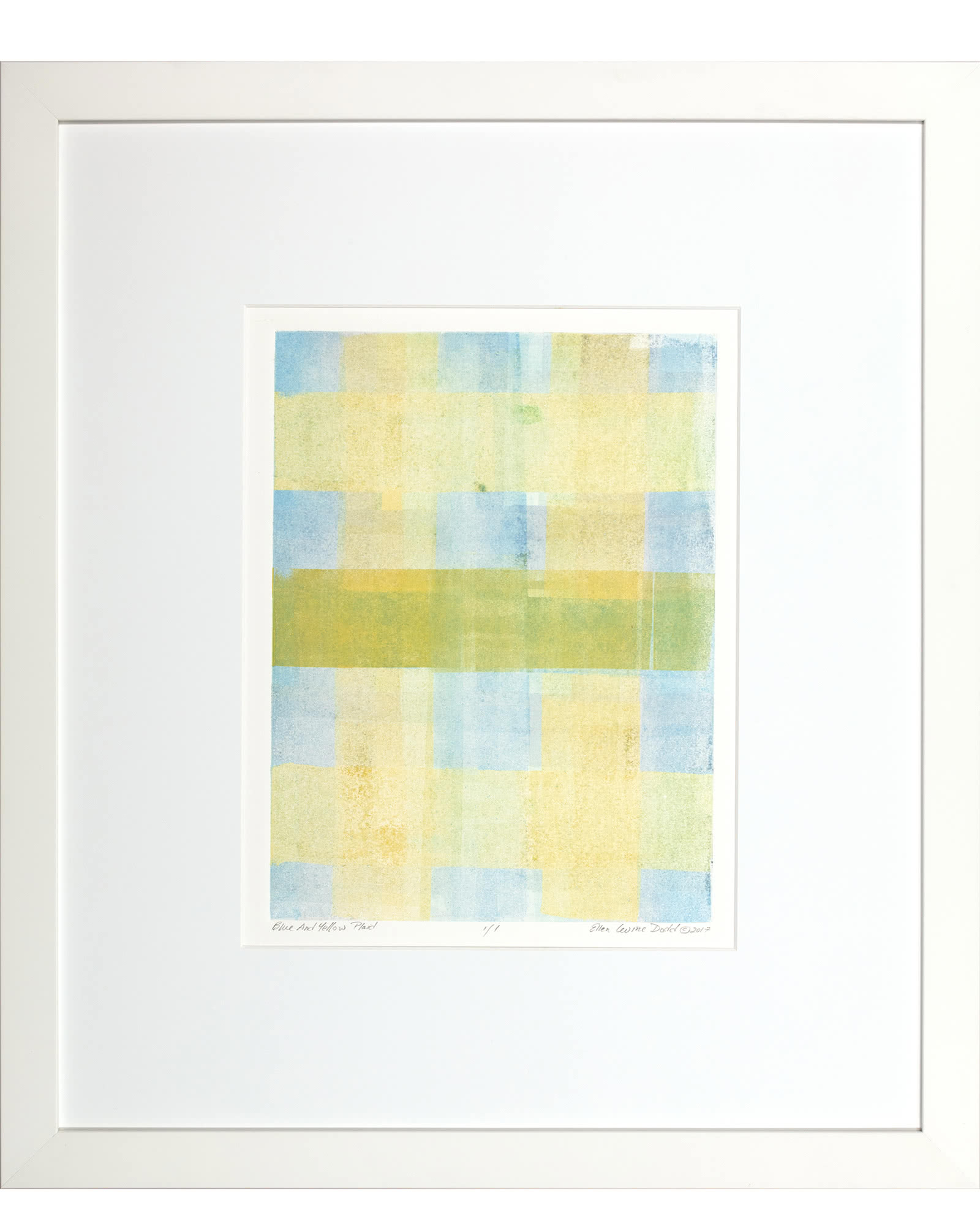 """Blue And Yellow Plaid"" by Ellen Levine Dodd"