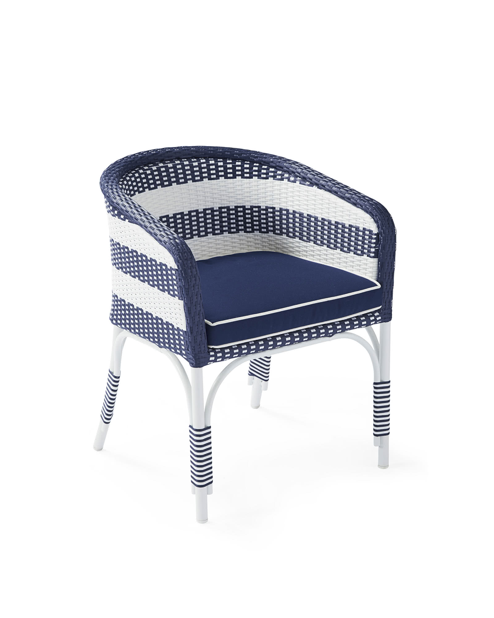 Outdoor Riviera Bucket Chair with Cushion