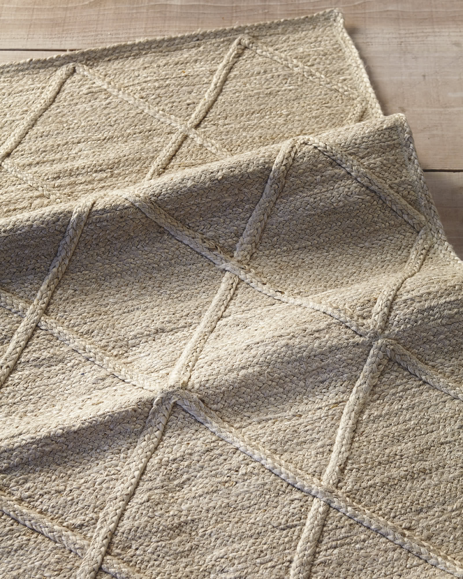 Delightful Diamond Jute Rug