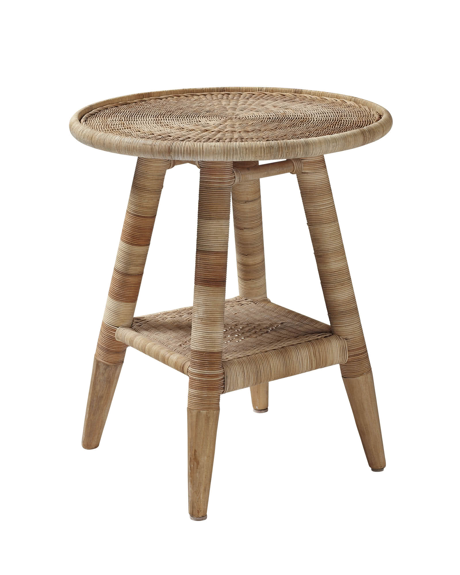 Natural Woven Side Table