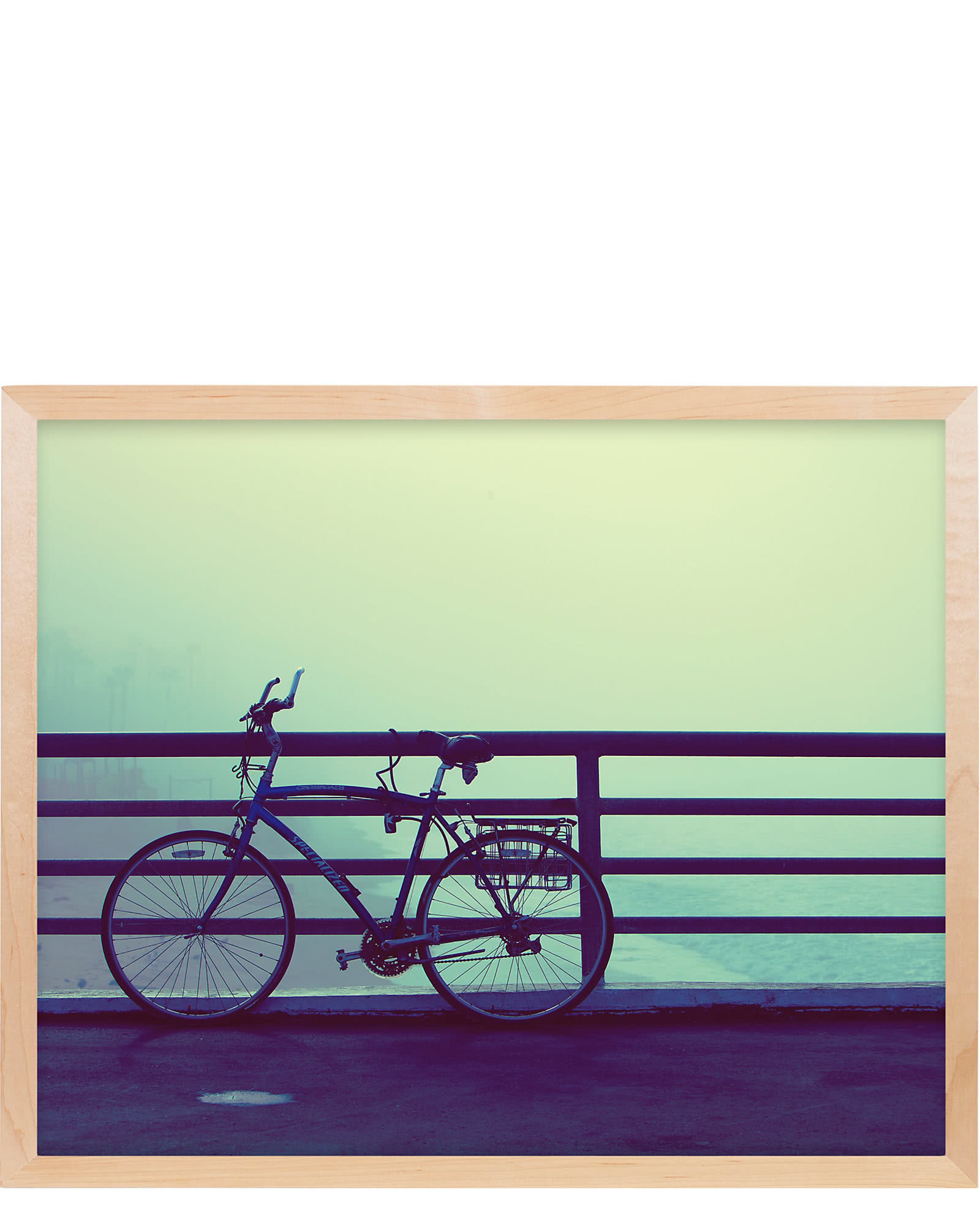 """Misty Beach Bike"" by Stephanie Sherman"