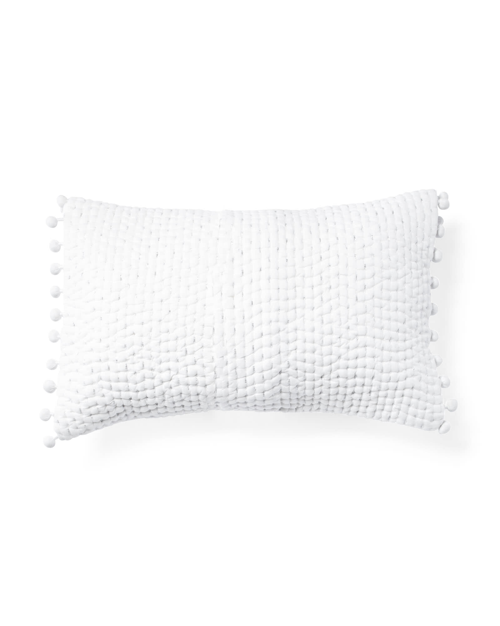 Metallic Pickstitch Lumbar Pillow Cover