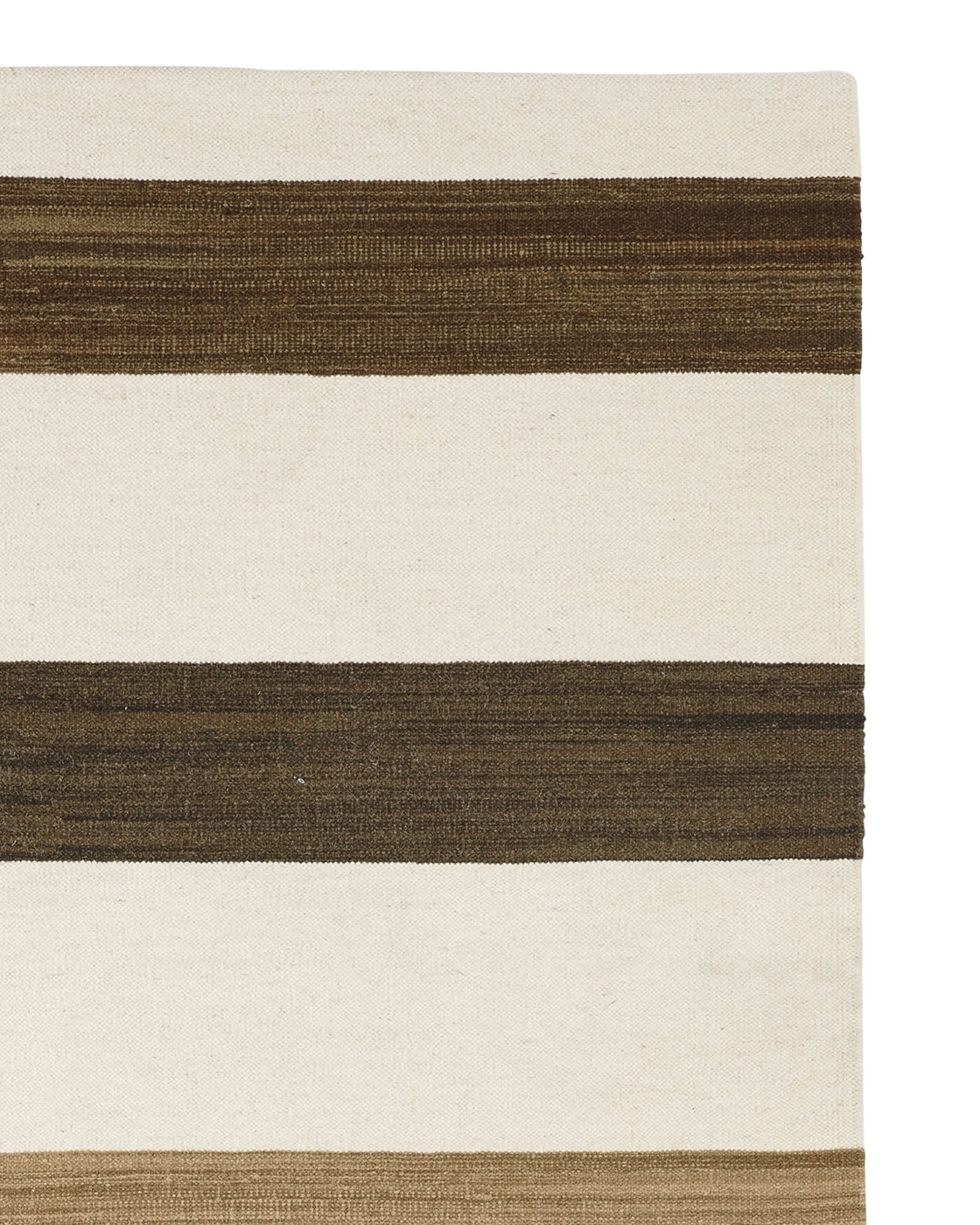 Playa Stripe Dhurrie - Brown