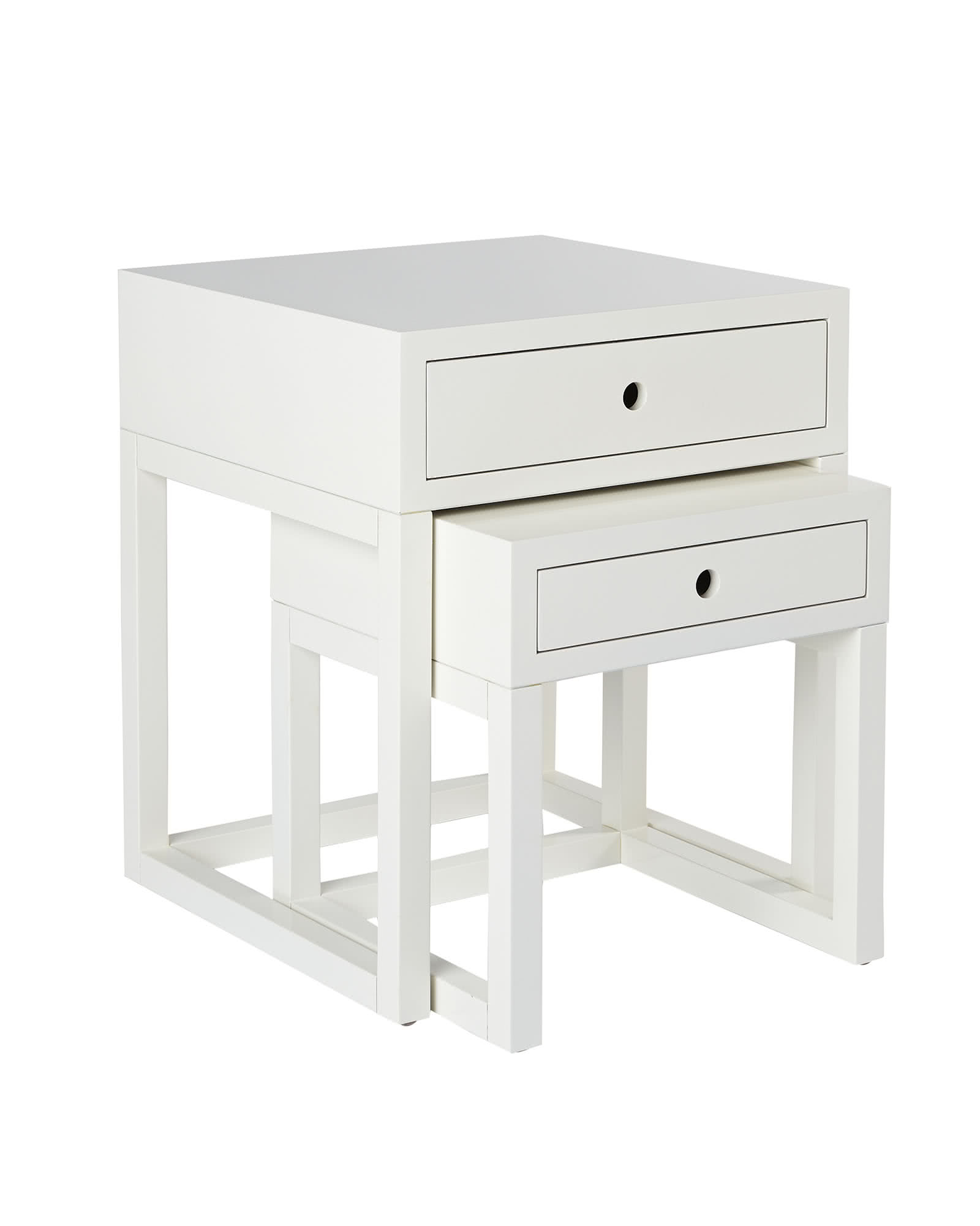 webster nesting tables  tables  serena and lily - webster nesting tables  white