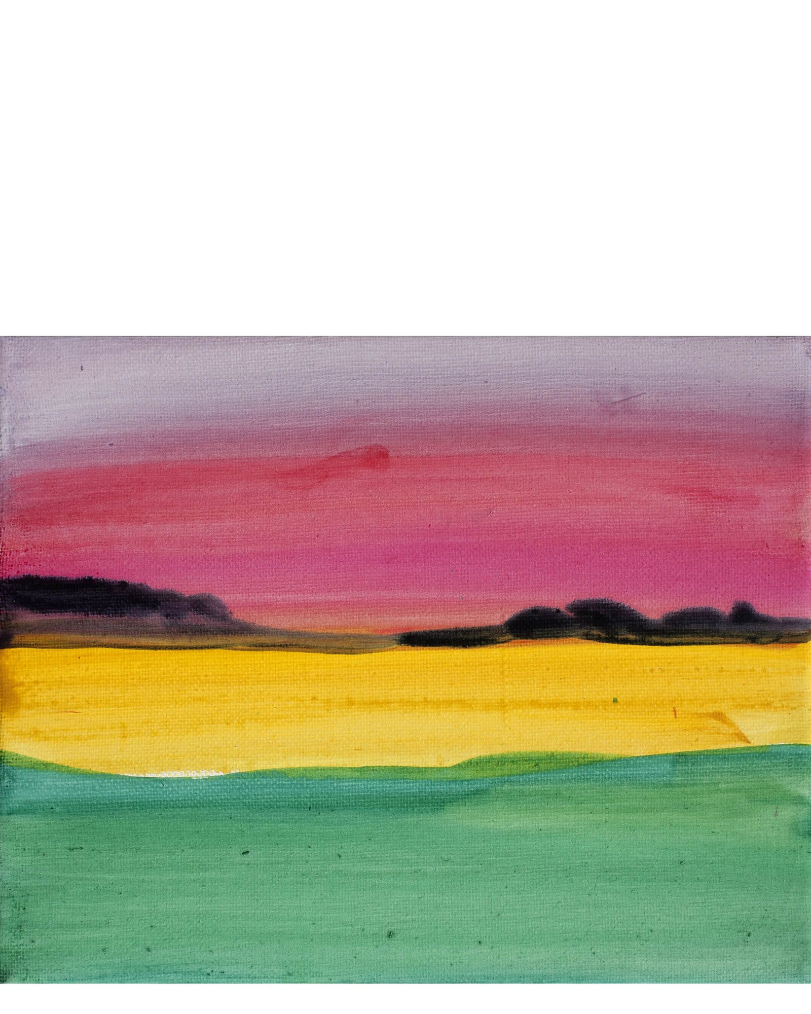 """Mustard with Scarlet Sunset Sky"" by Isabel Vexin"