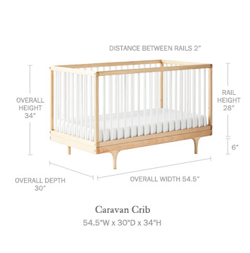 caravan crib by kalon studios serena and lily. Black Bedroom Furniture Sets. Home Design Ideas