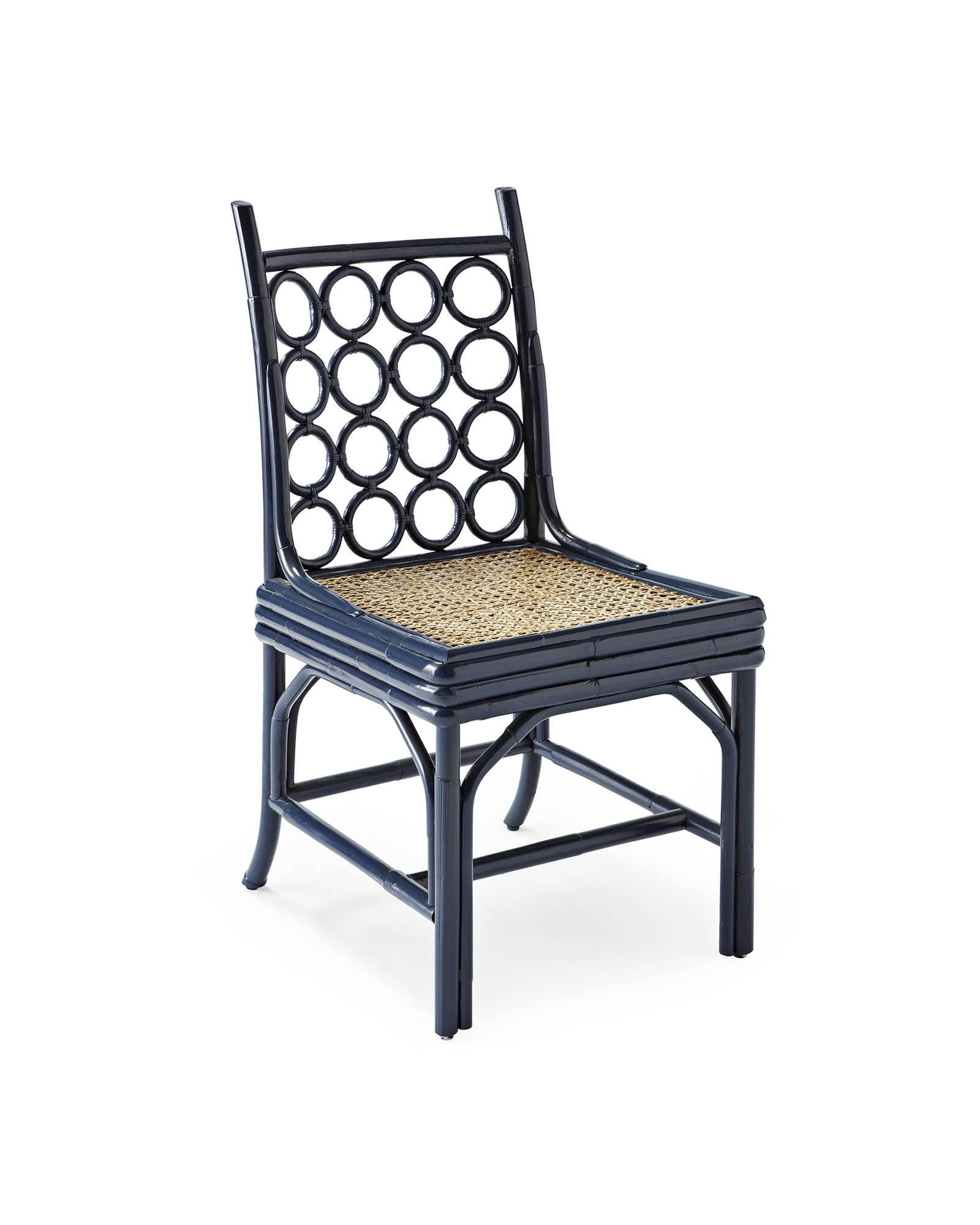 Larchmont Dining Chair Navy Serena & Lily