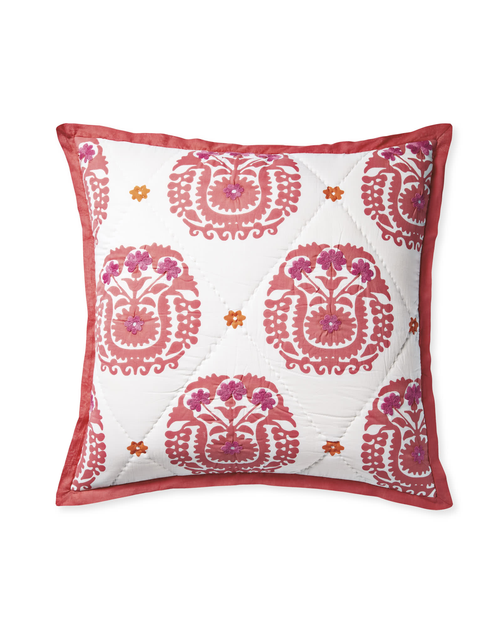 Suzani Quilted Shams - Juice
