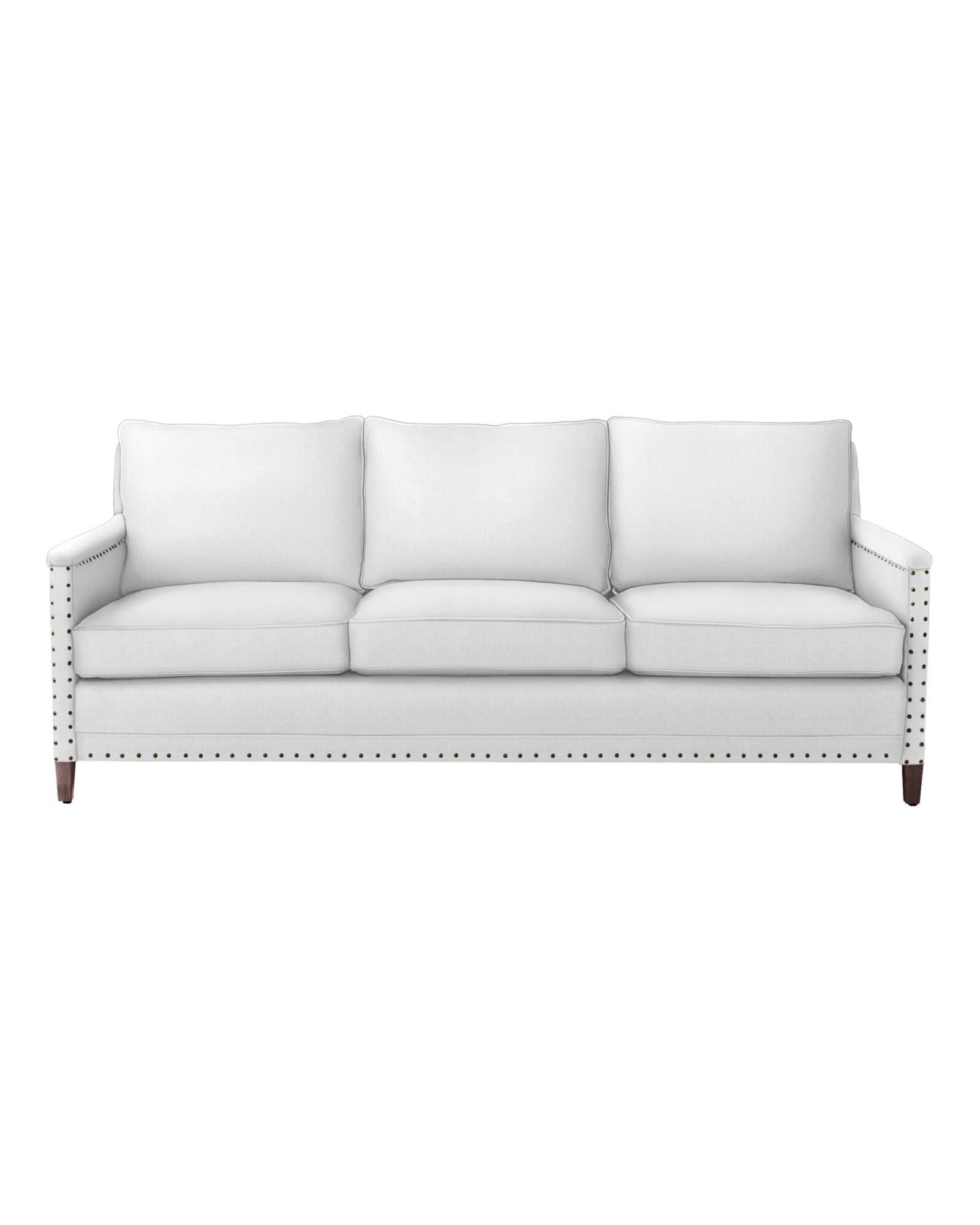 Spruce Street 3-Seat Sofa with Nailheads