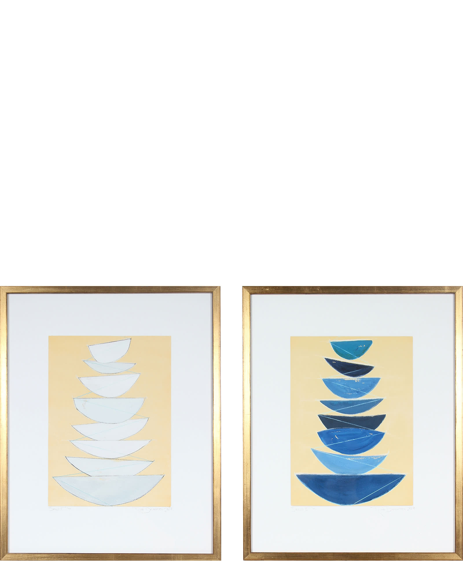 """""""Sails I & II"""" by Rob Delamater"""