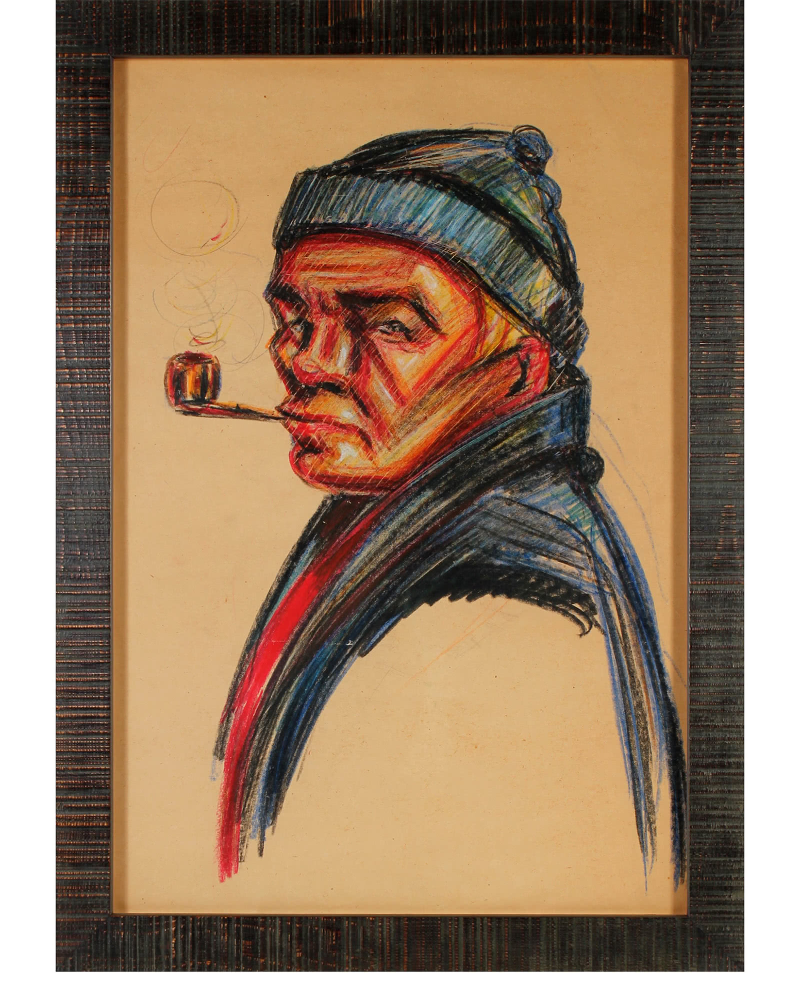 """""""Fisherman with Pipe"""" by San Francisco Artist"""