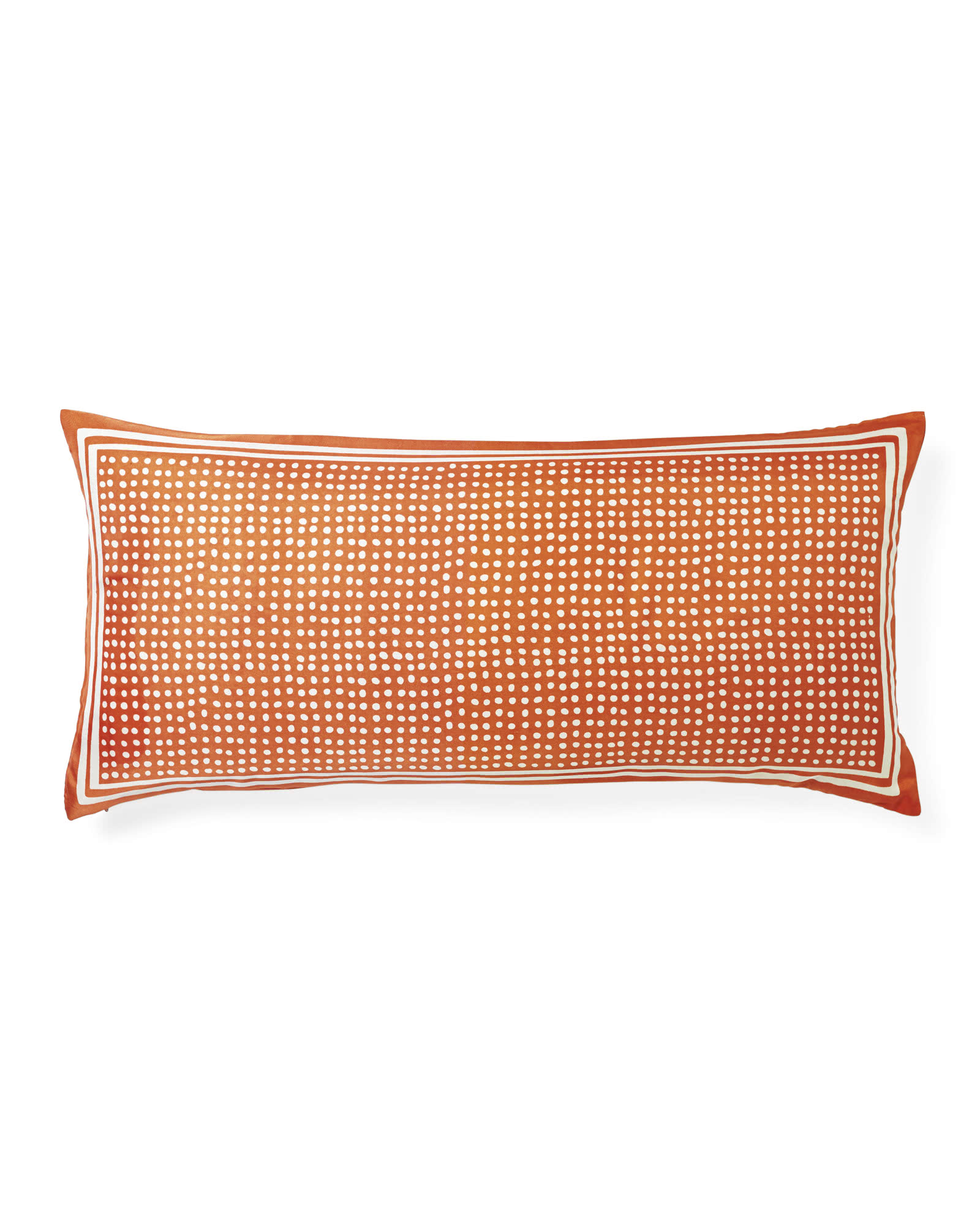 Silk Dot Lumbar Pillow Cover