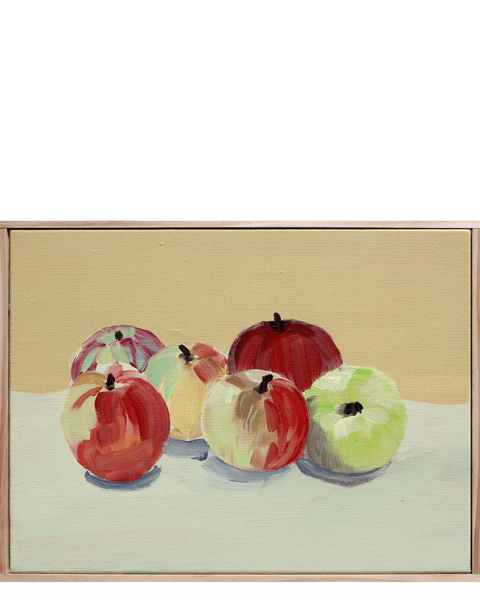 """Devoto Apples in Anise, Green of Nice, and Golden Yellow"" by Isabel Vexin"