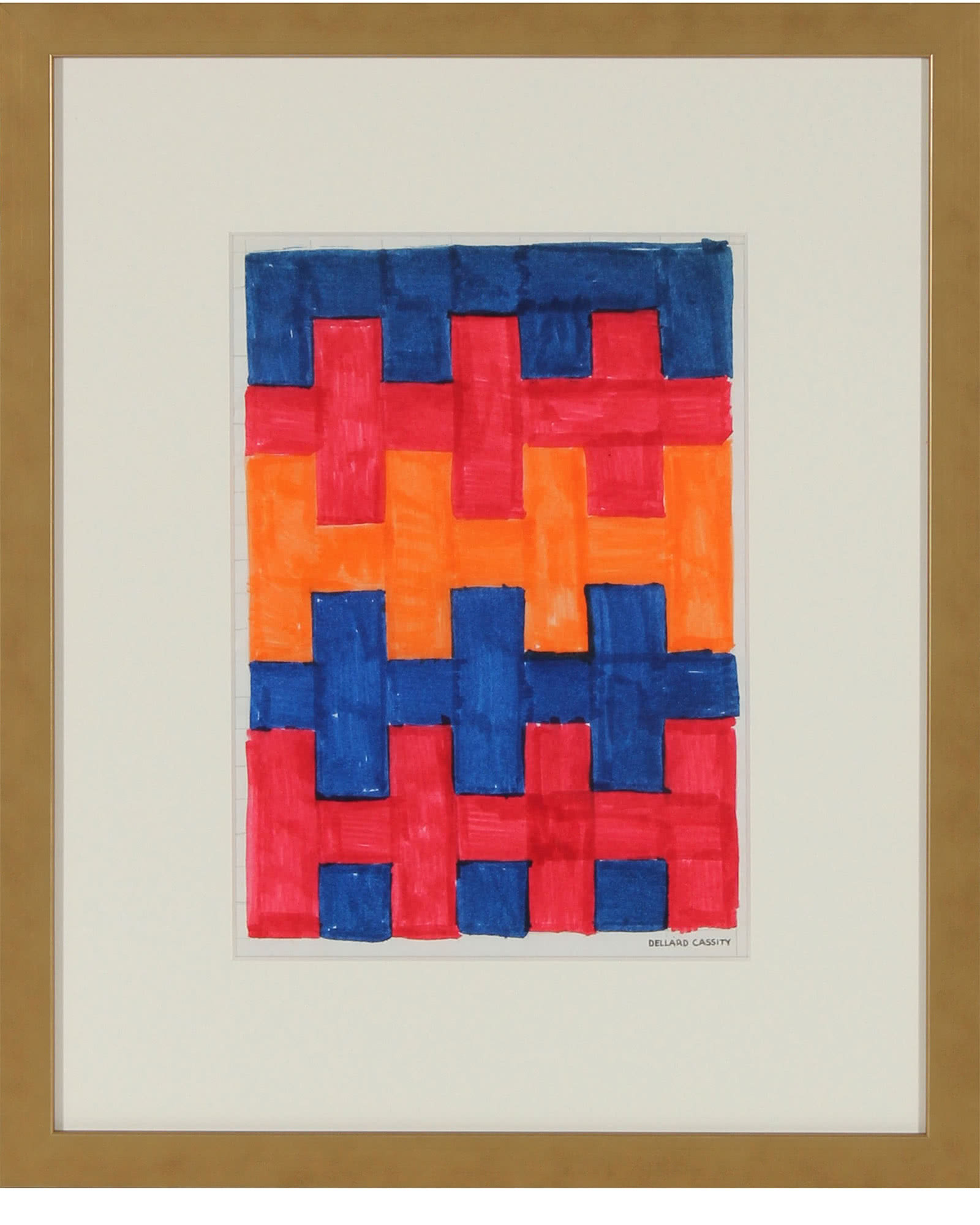 """""""Abstracted Checkerboard Study"""" by Dellard Cassity"""