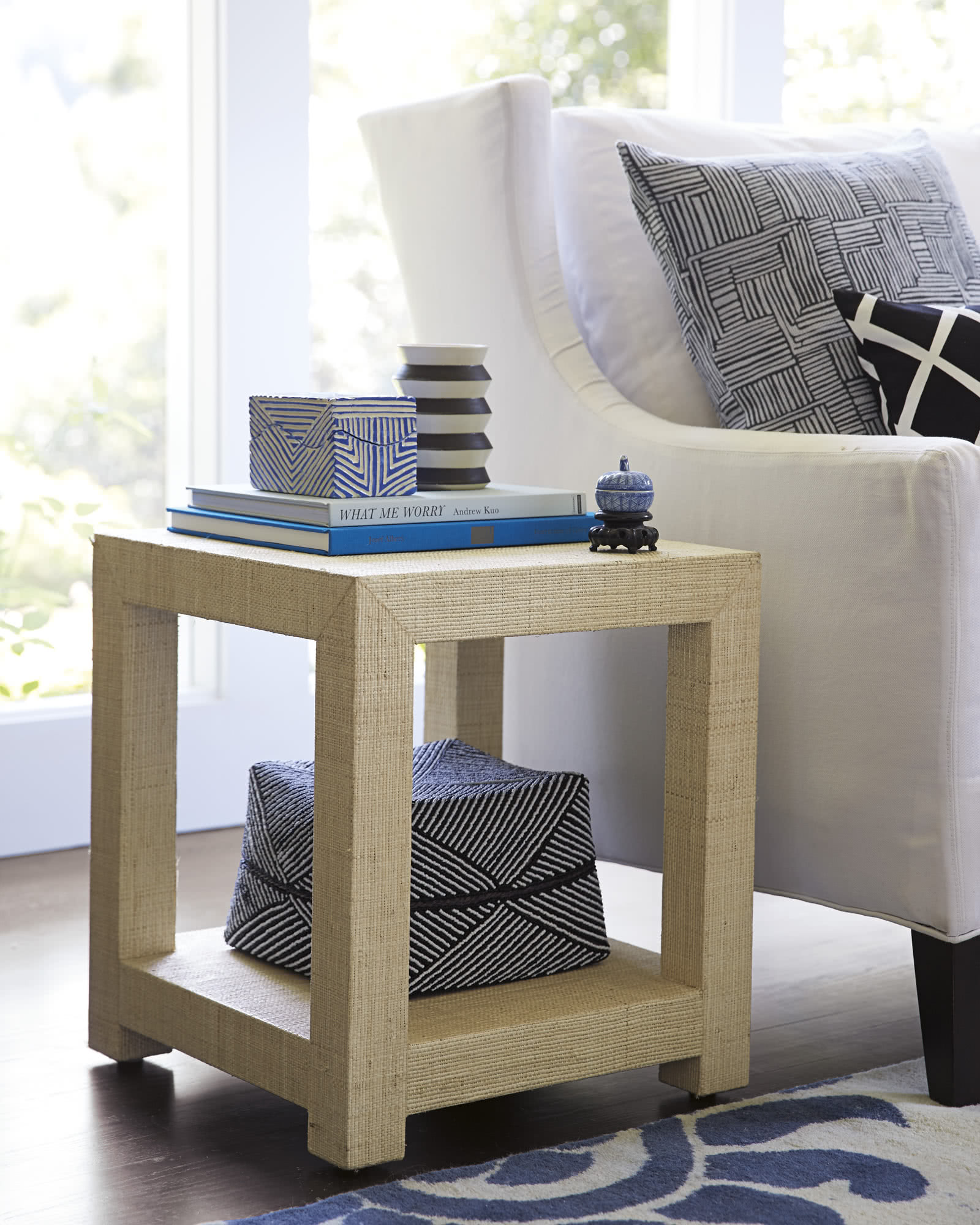 Blake Raffia Side Table