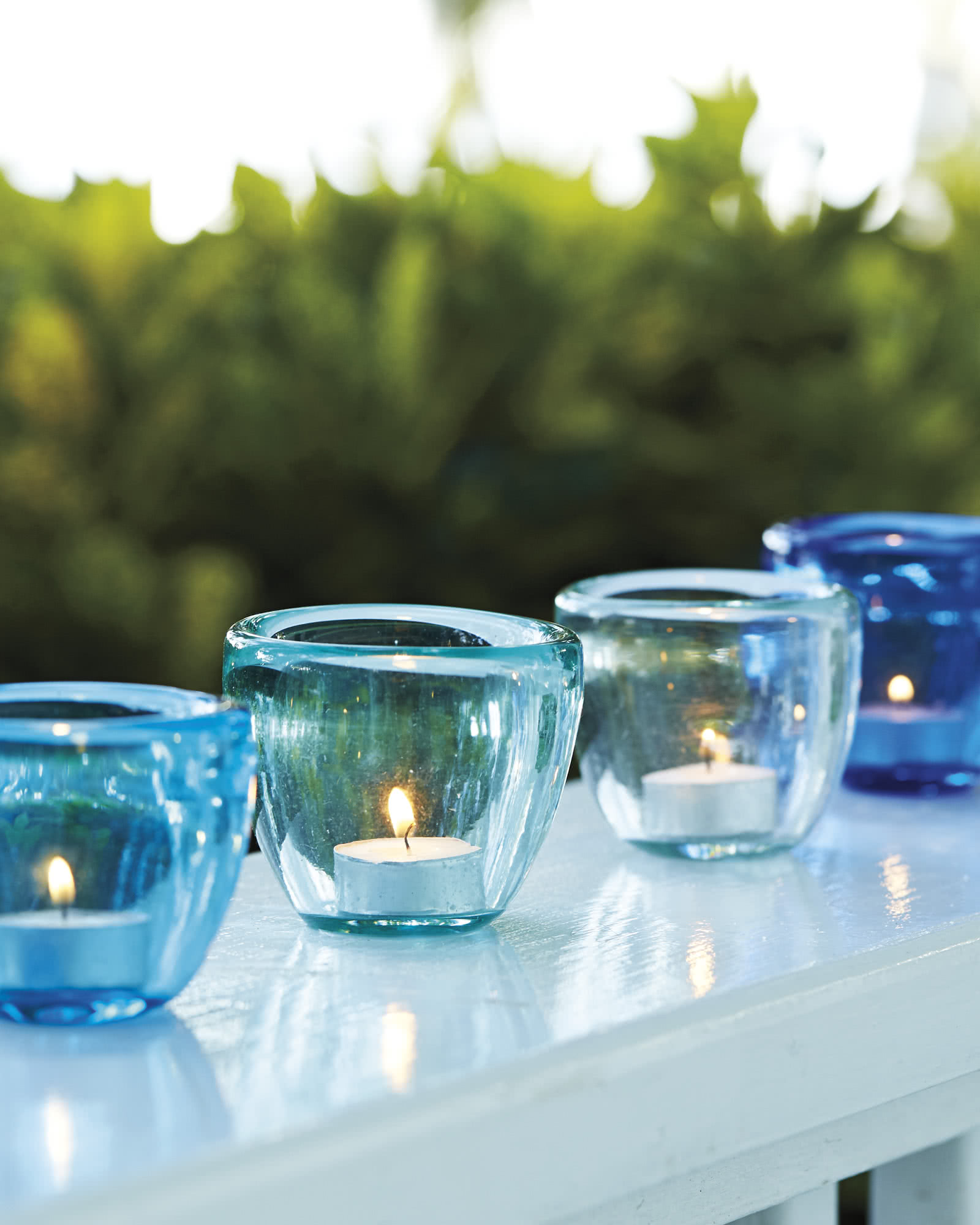 Colored Glass Votives (Set of 3)
