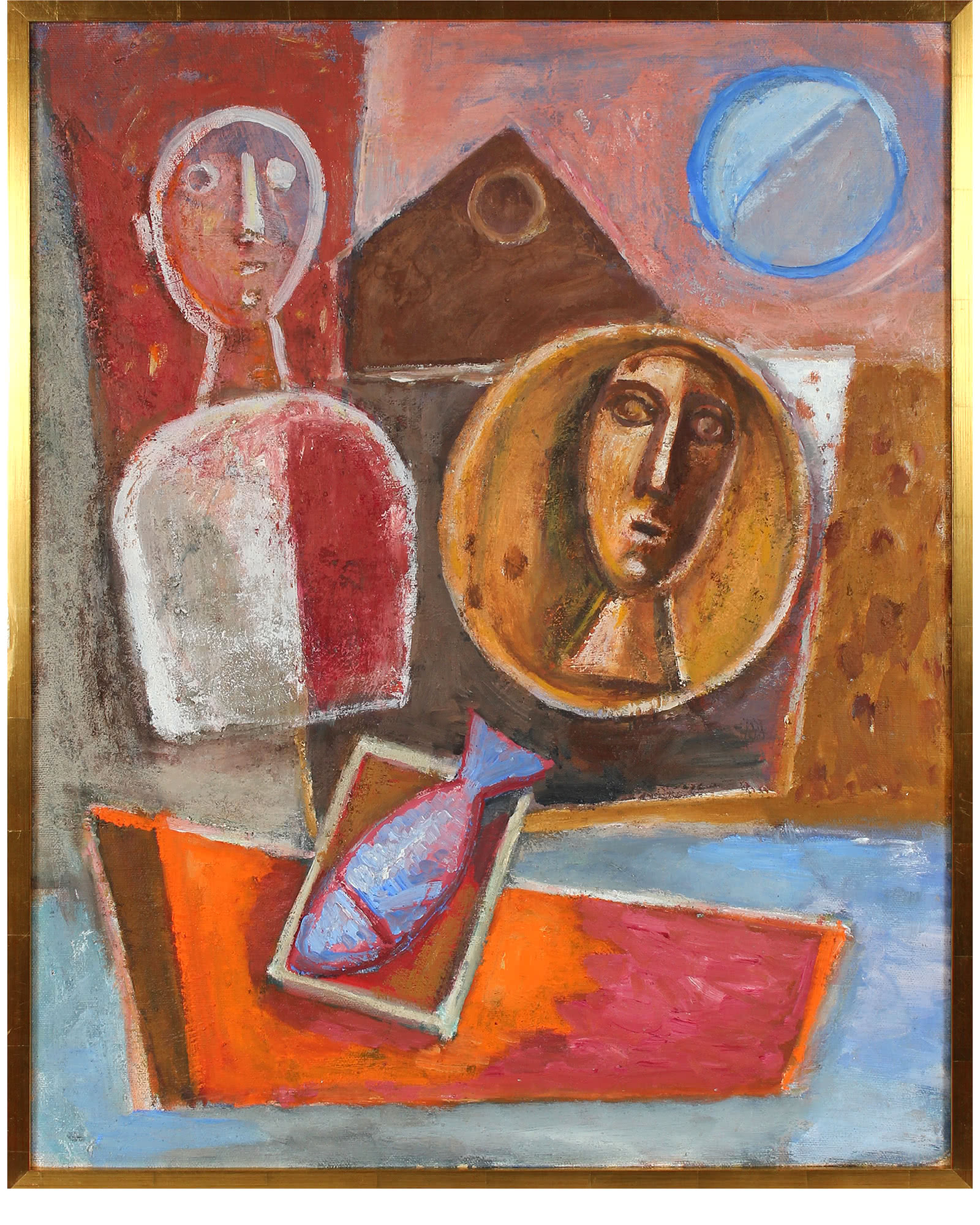 """Faces in Still Life Abstraction"" by Gerald Wasserman"