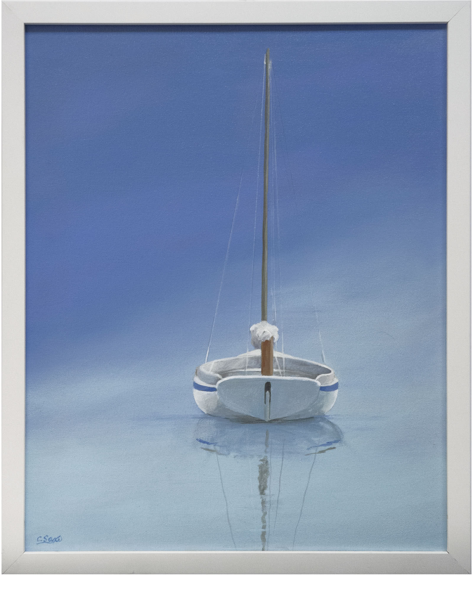 """""""At Anchor in Still Water"""" by Carol Saxe"""