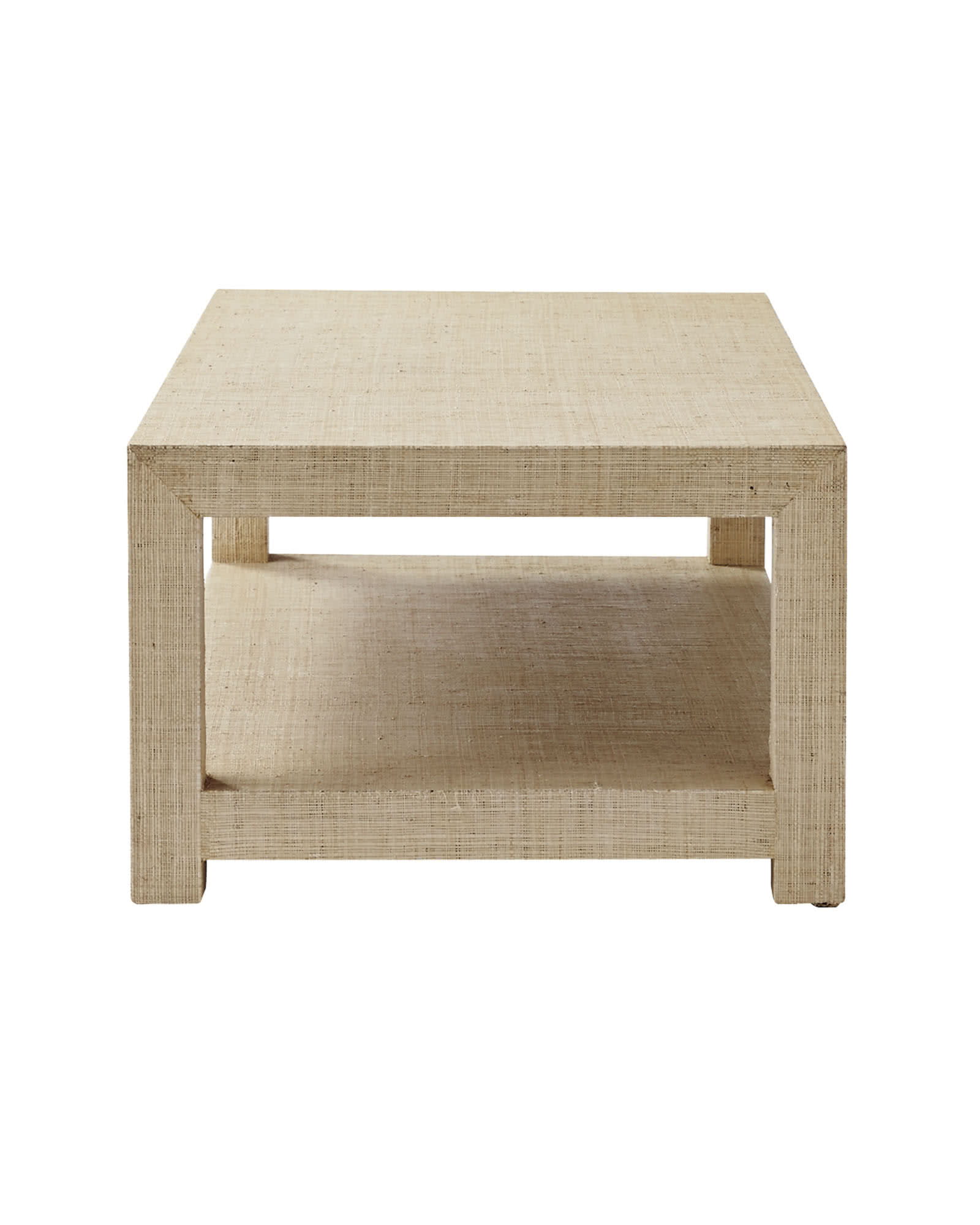 Blake Raffia Rectangular Coffee Table Small Serena Lily