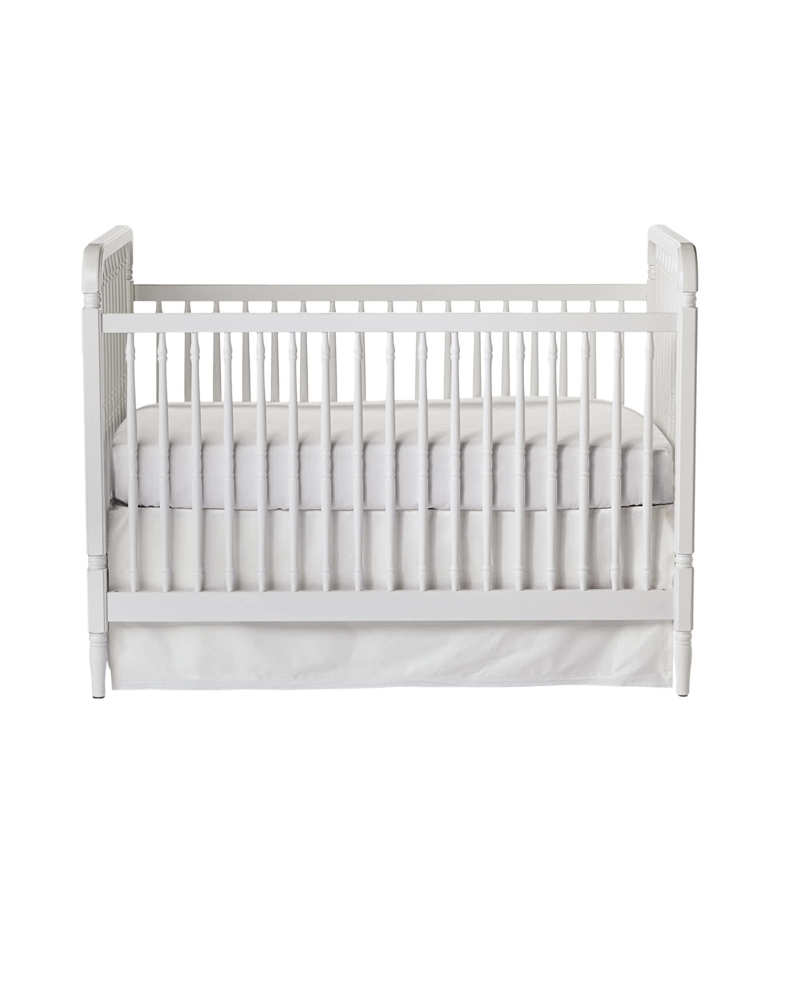 spindle crib white and gray boy nursery with blue accents