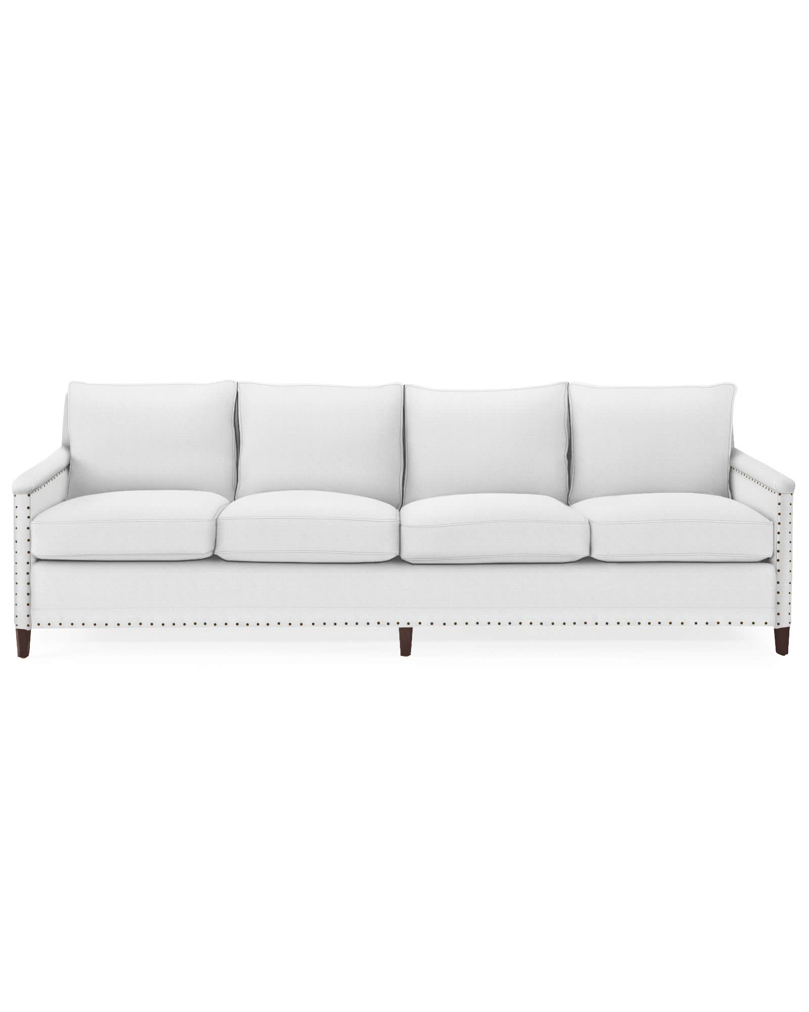 Spruce Street 4-Seat Sofa with Nailheads