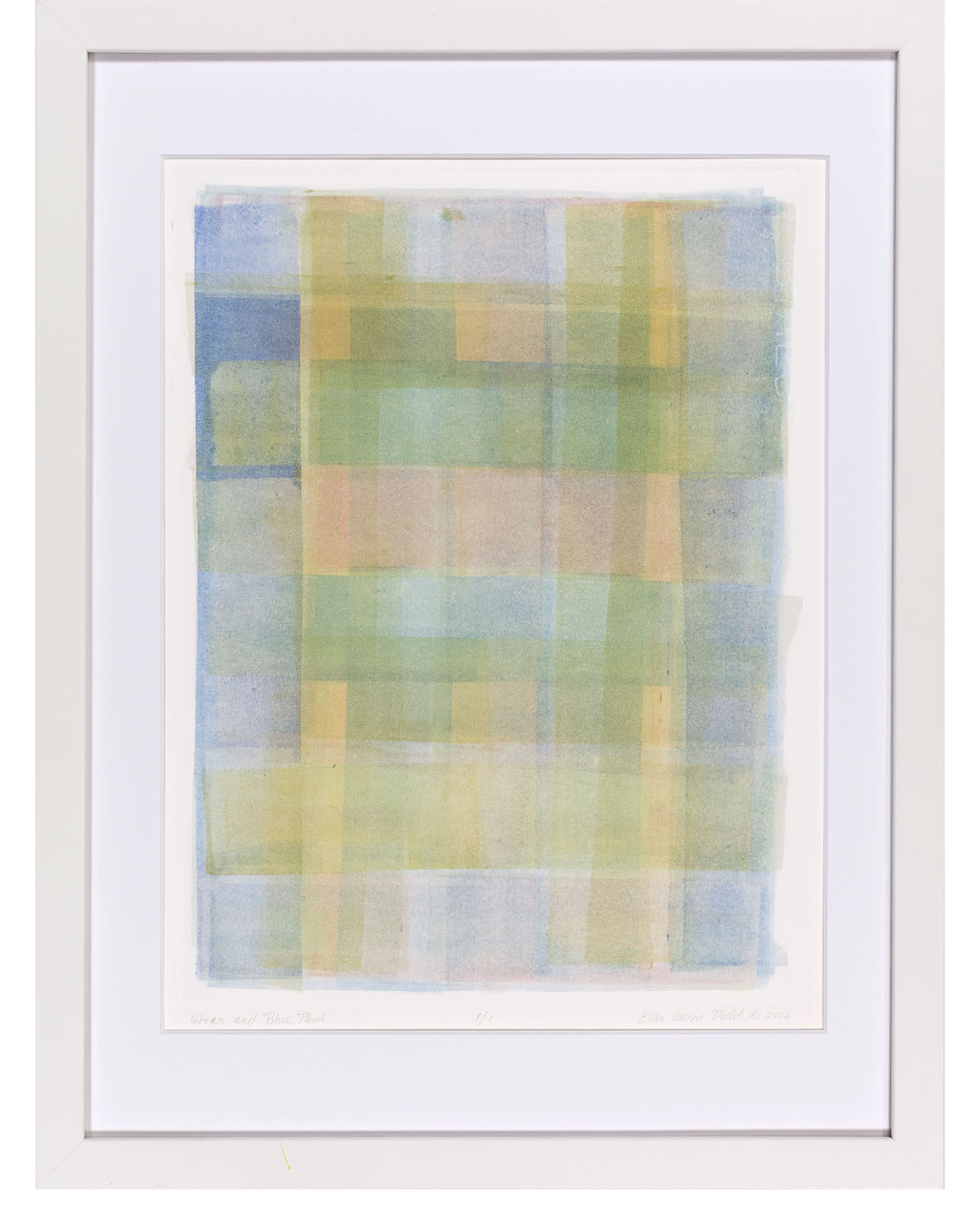 """""""Green And Blue Plaid"""" by Ellen Levine Dodd"""