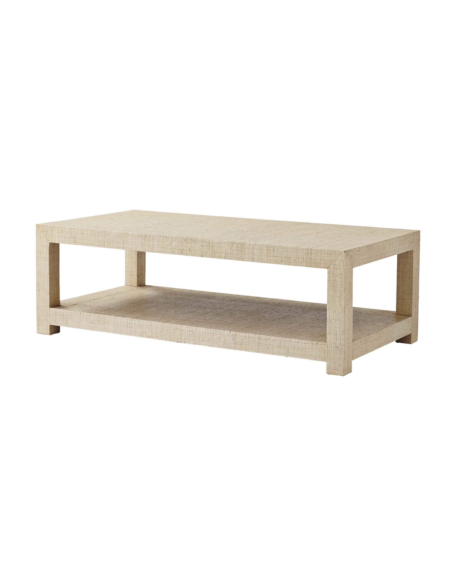 Blake Raffia Rectangular Coffee Table