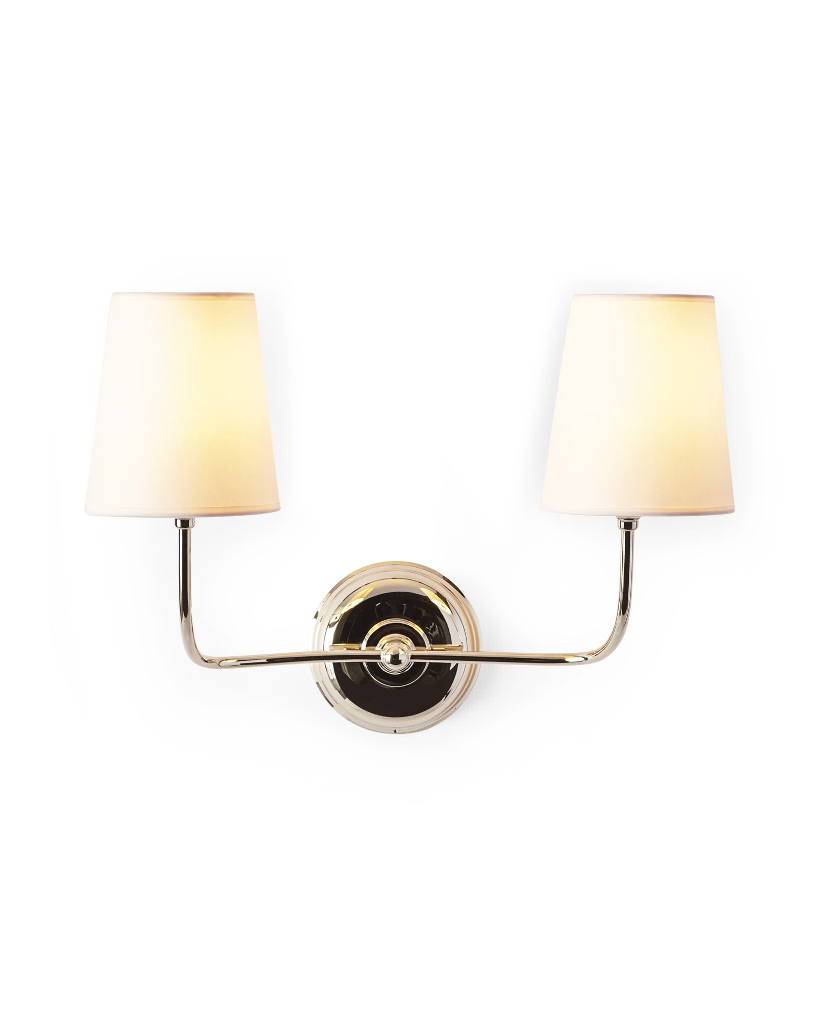 Everett Two-Arm Sconce - Polished Nickel