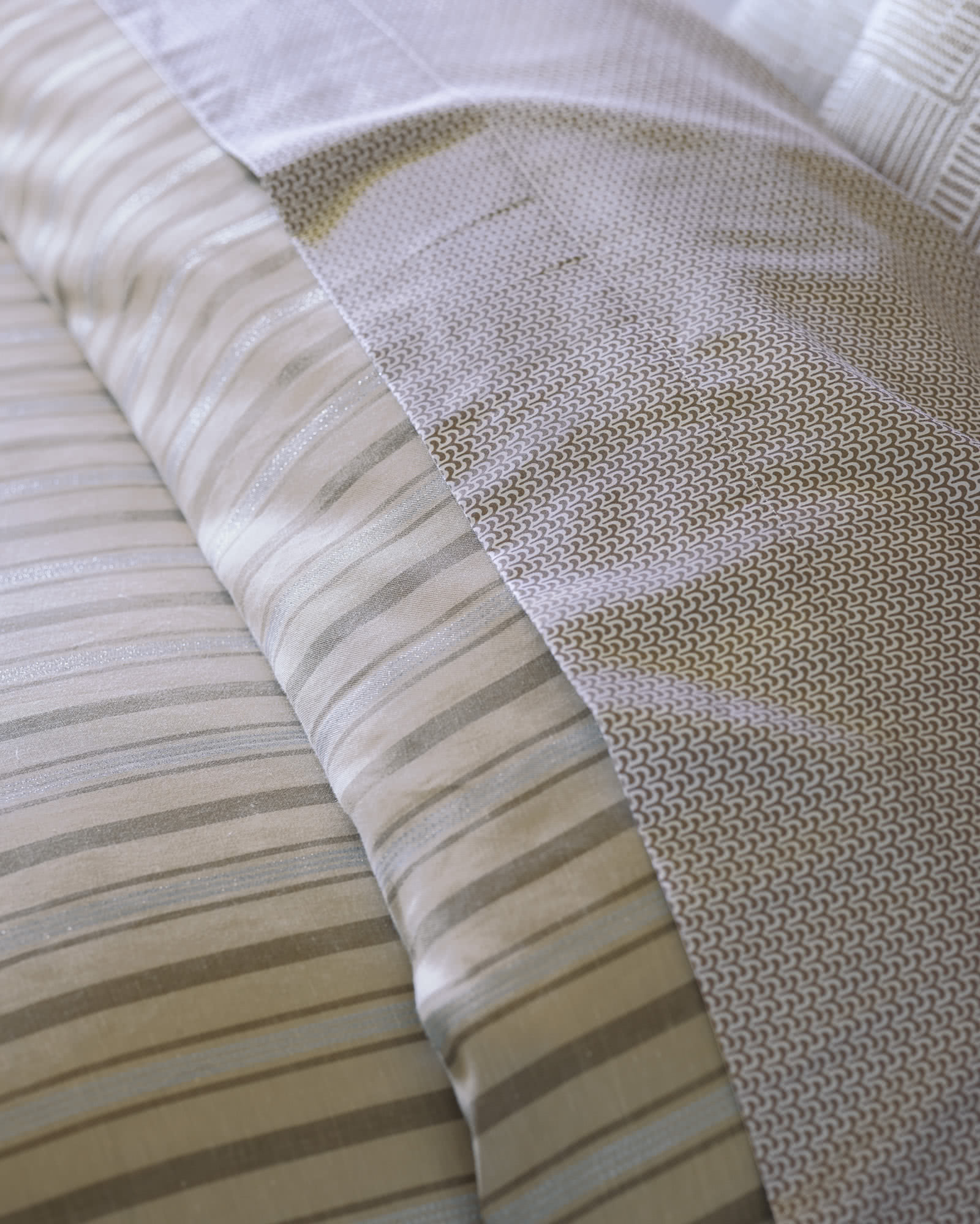 Metallic Stripe Duvet Cover