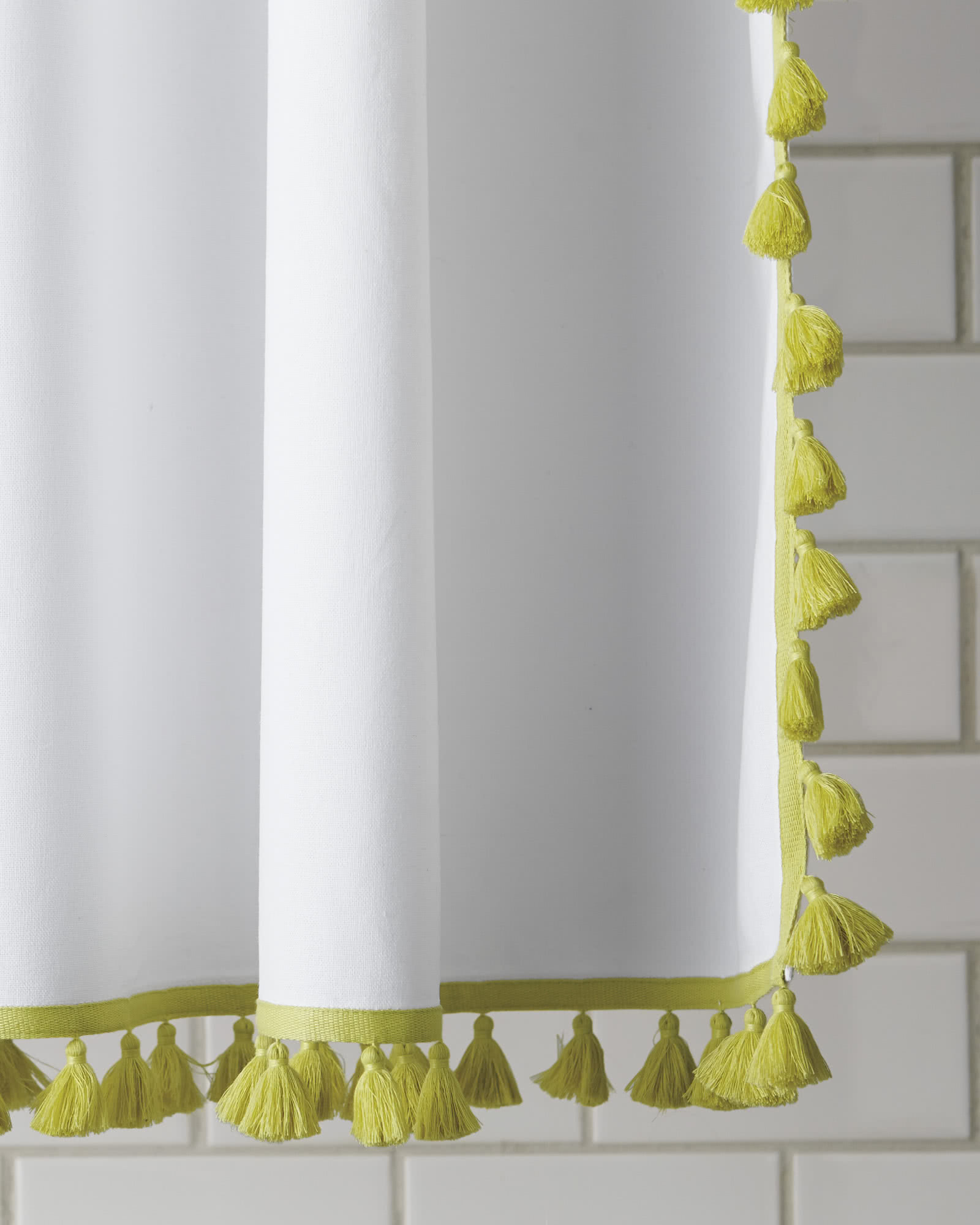french tassel shower curtain | serena and lily
