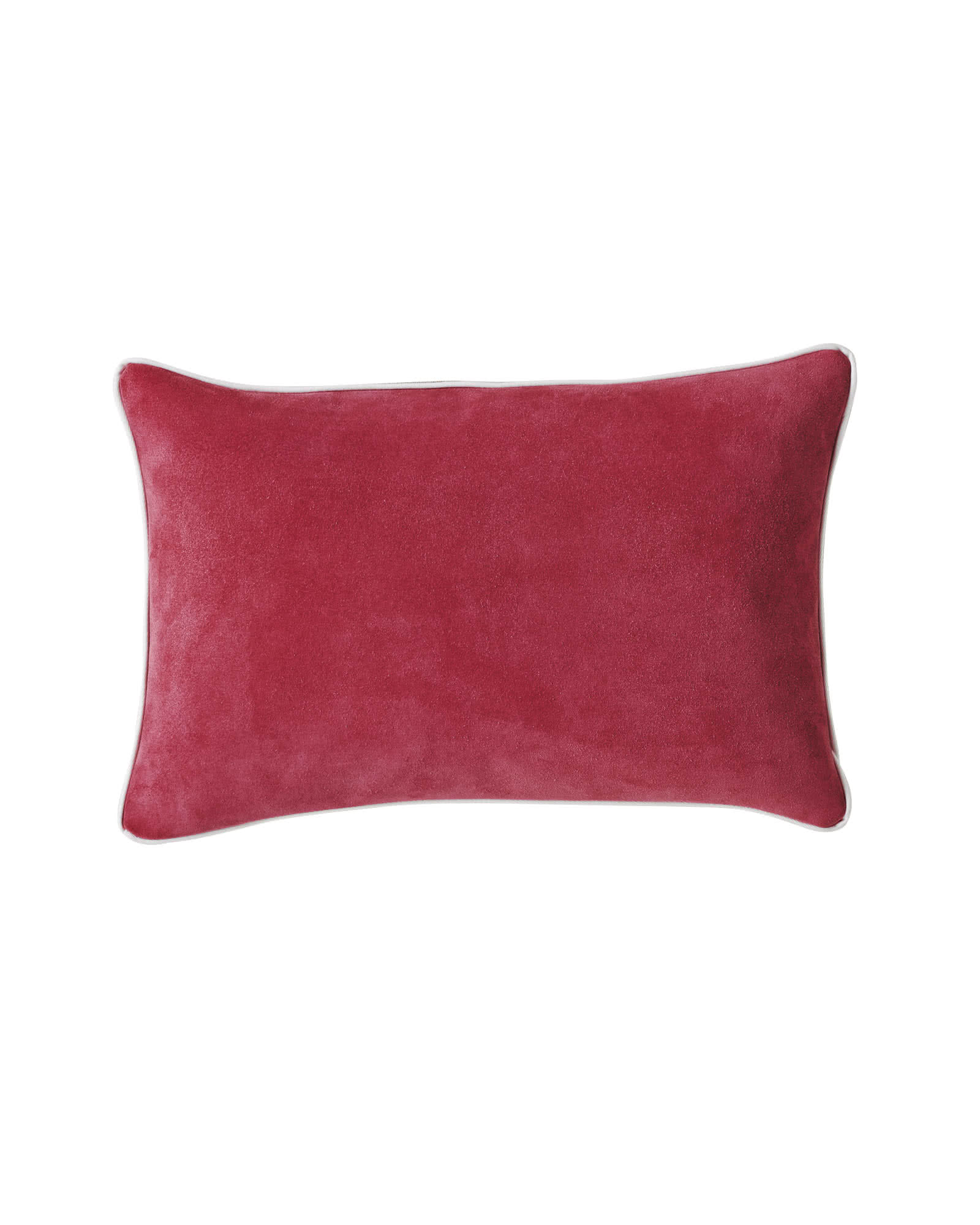 Suede Lumbar Pillow Cover