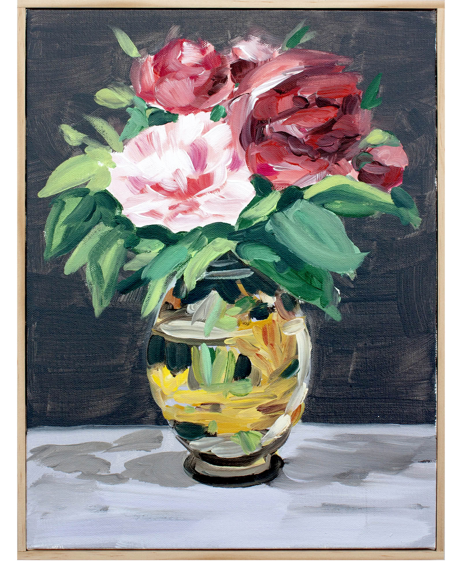 """""""Peonies in Red"""" by Isabel Vexin"""