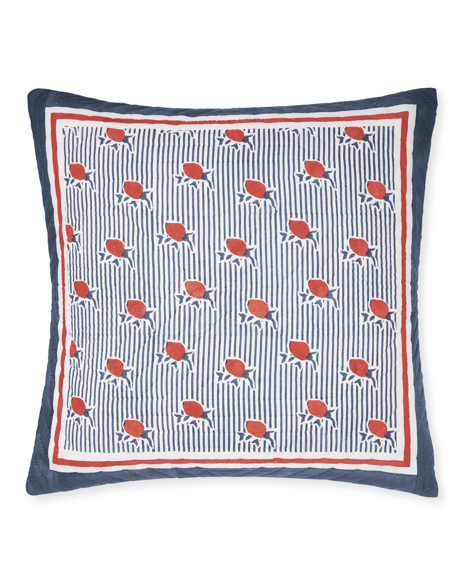Positano Quilted Shams - Papaya