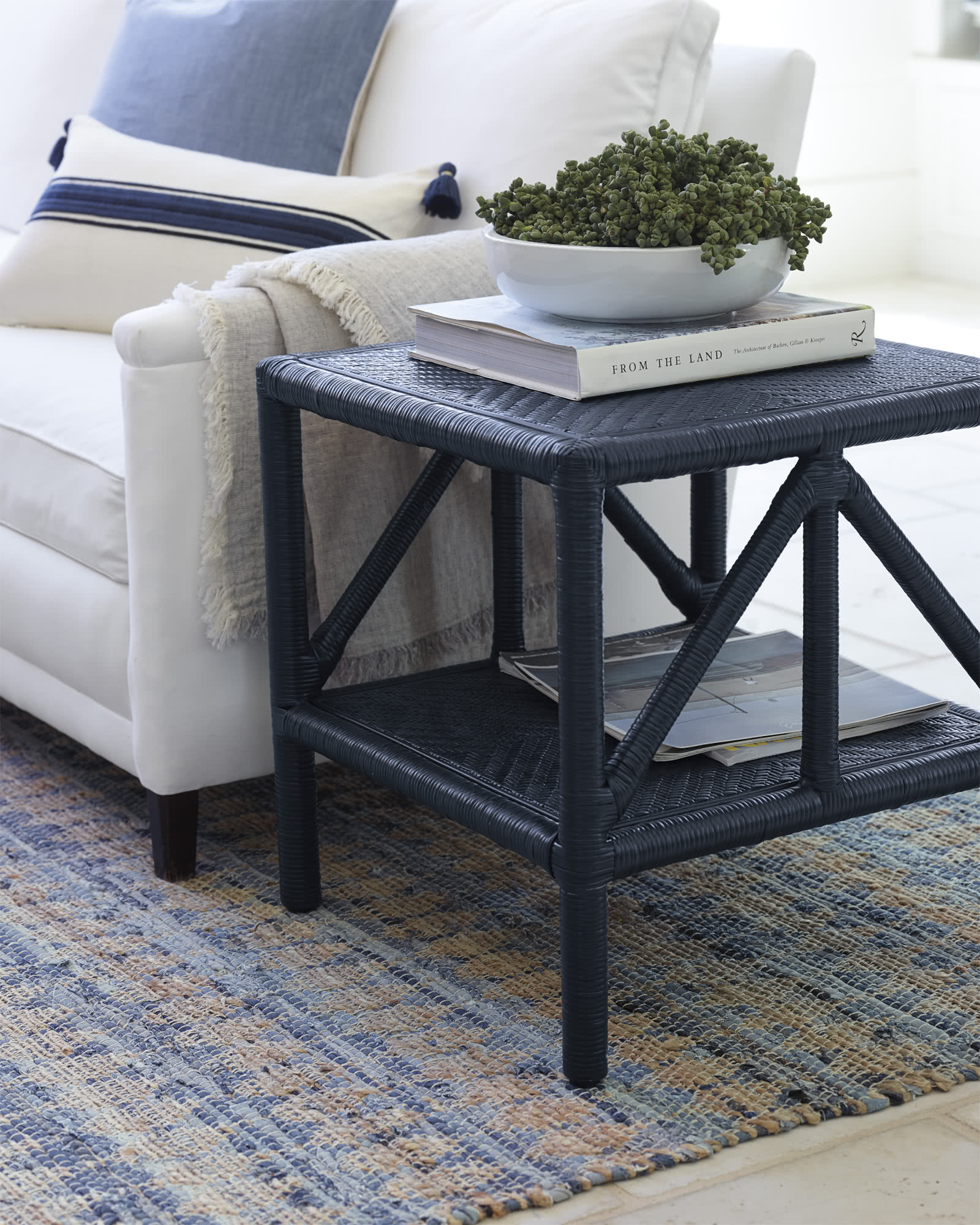 trestle side table serena lily