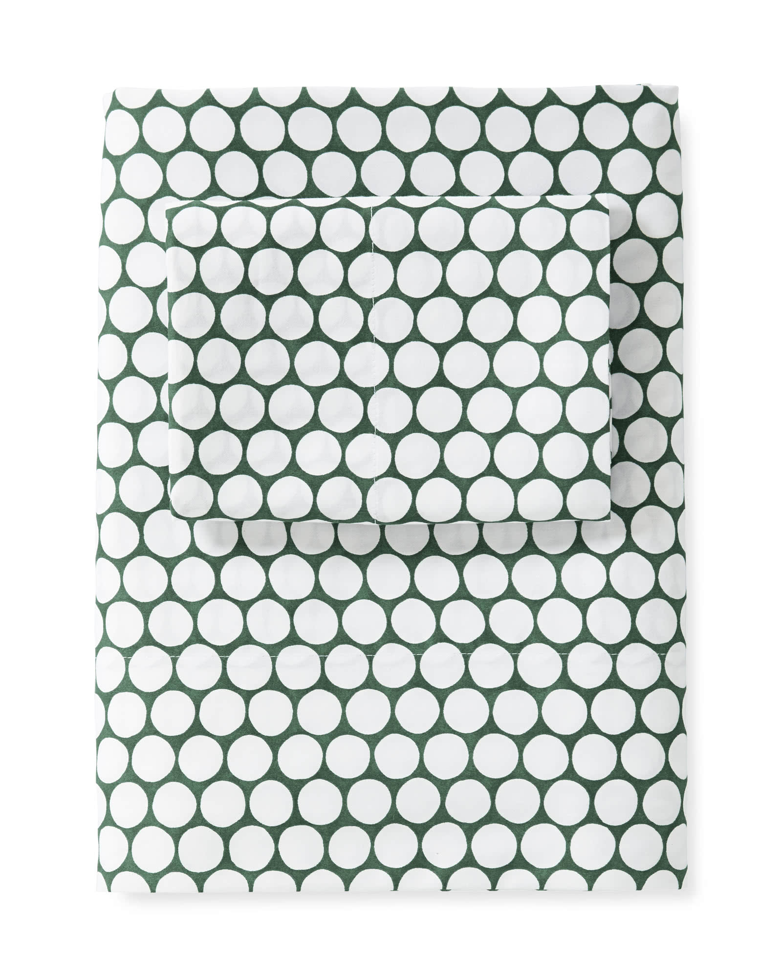Extra Color Dot Pillowcases (Set of 2) - Palm Green