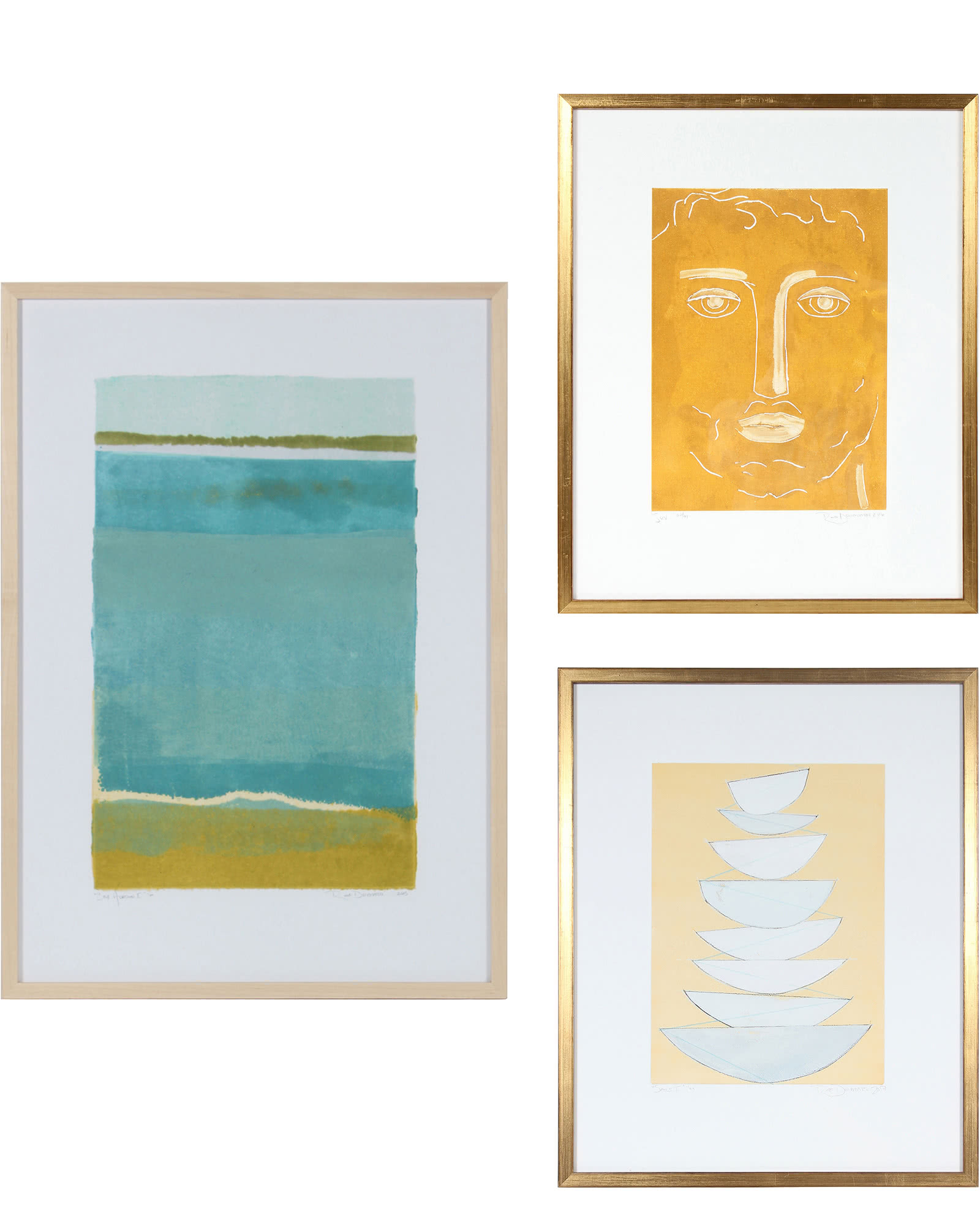 """""""Gallery Wall, Set of 3"""" by Rob Delamater"""