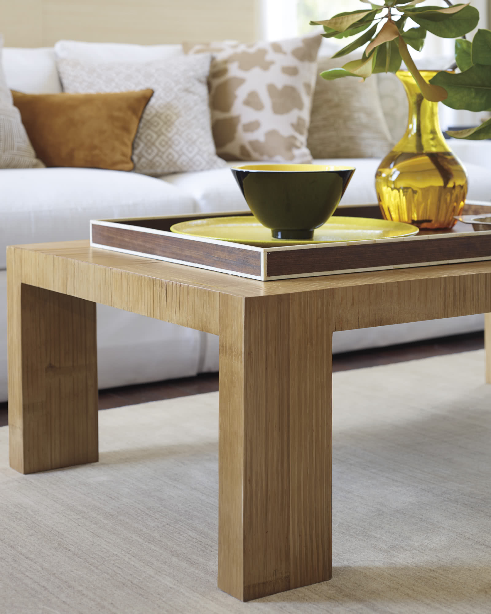 Crushed Bamboo Coffee Table Serena & Lily