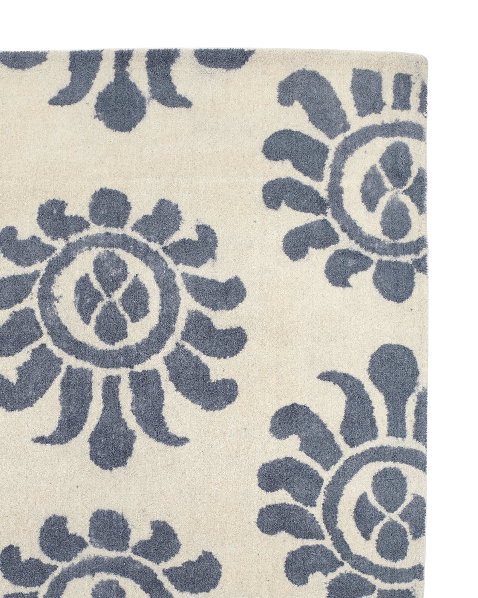 Azul Handpainted Rug Swatch