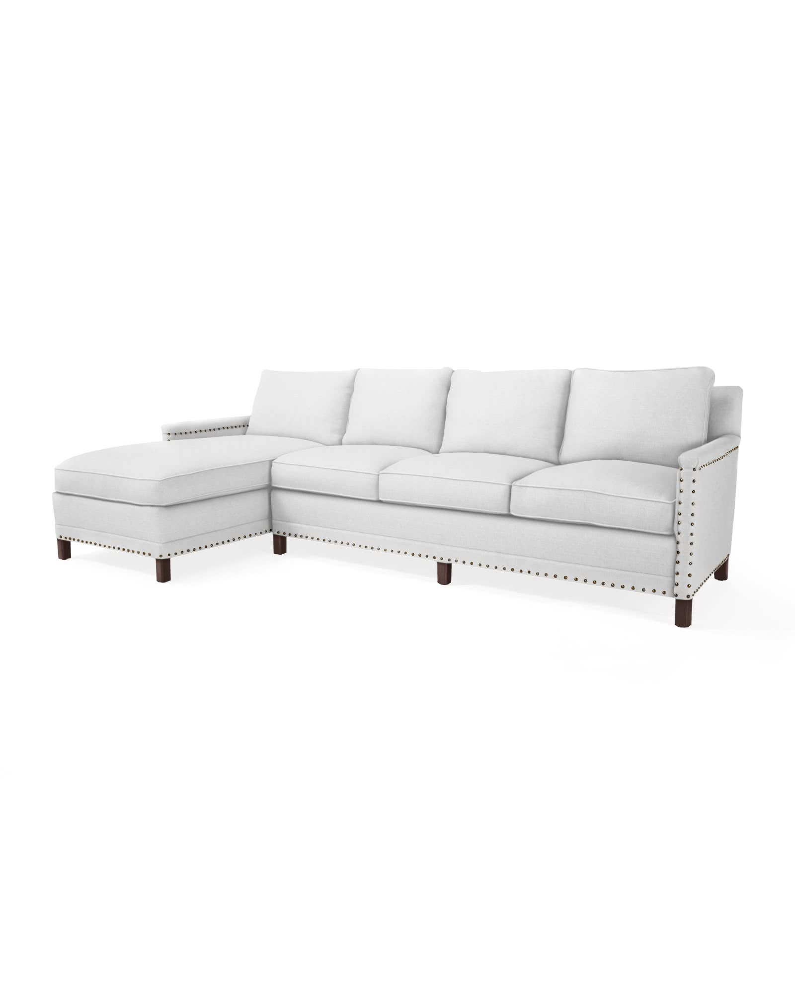Spruce Street Left-Facing Chaise Sectional with Nailheads