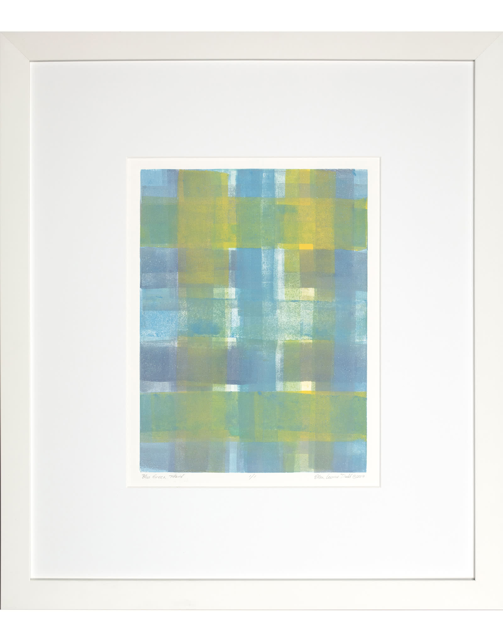 """Blue And Green Plaid"" by Ellen Levine Dodd"