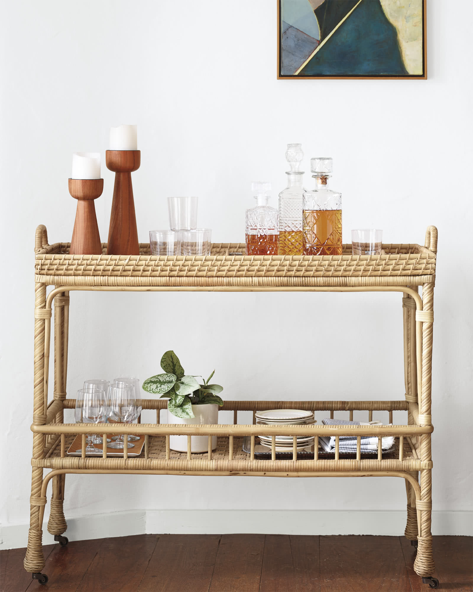South Seas Bar Cart